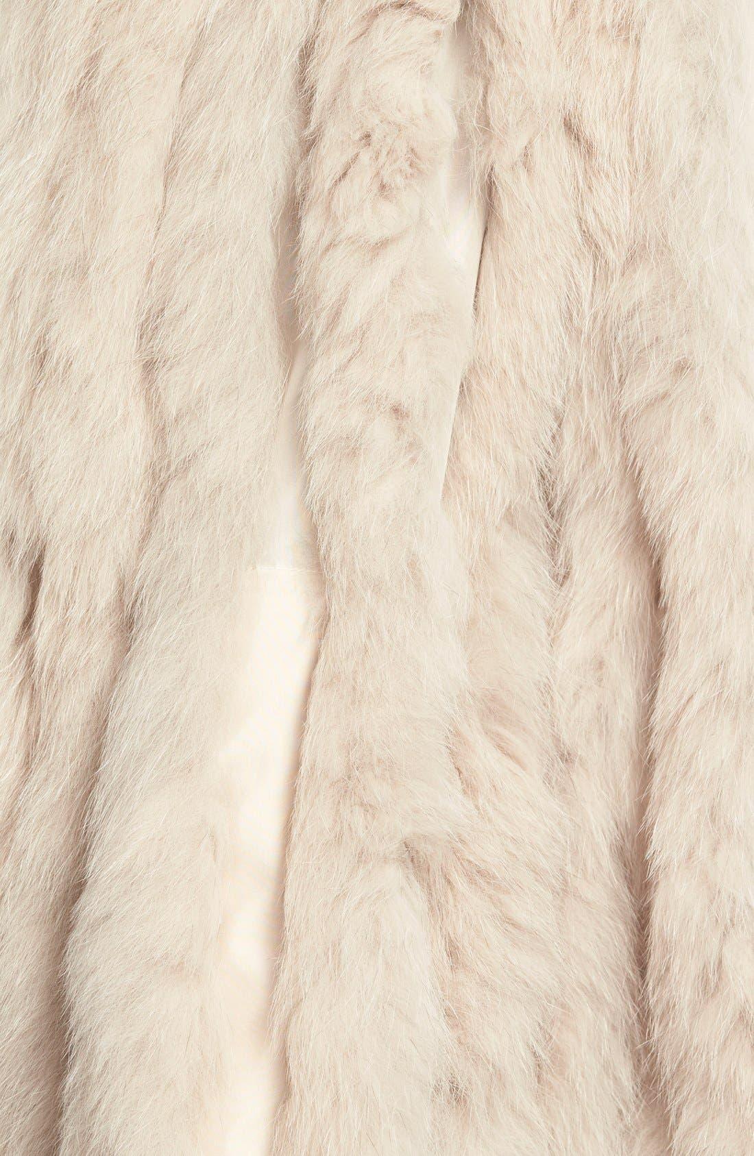 GeorgeSimonton Reversible Silk & Genuine Fox Fur Topper,                             Alternate thumbnail 15, color,