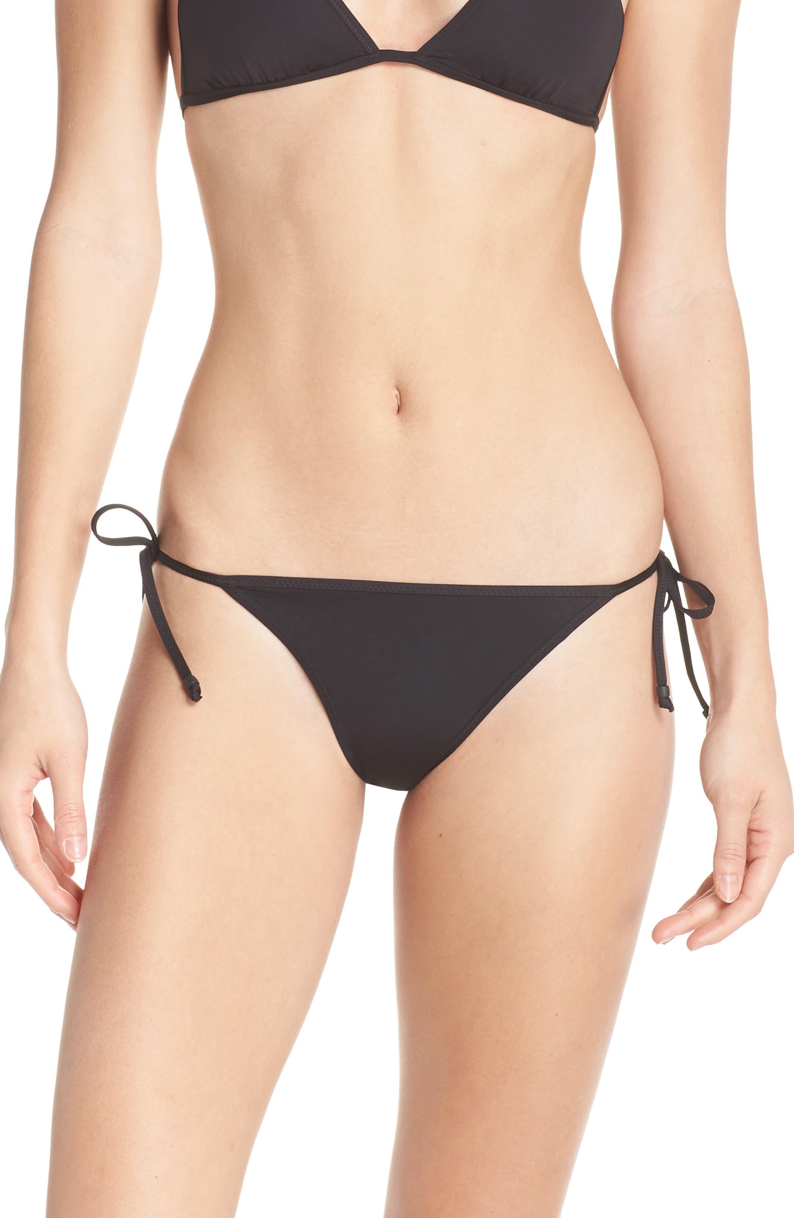 Playa Miami String Bikini Bottoms,                             Main thumbnail 1, color,                             001