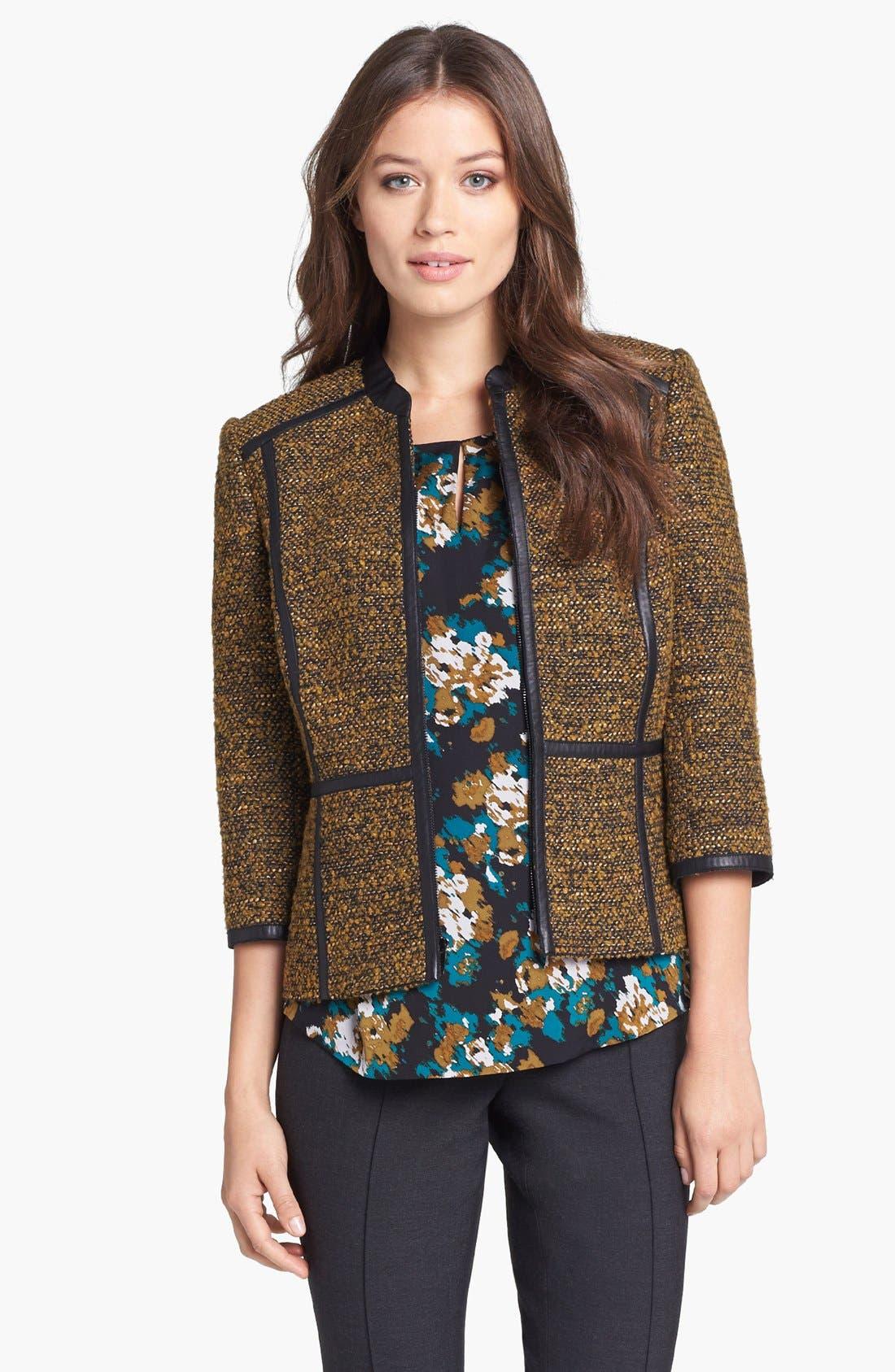 CLASSIQUES ENTIER<SUP>®</SUP> 'Kane Weave' Bouclé Jacket, Main, color, 001