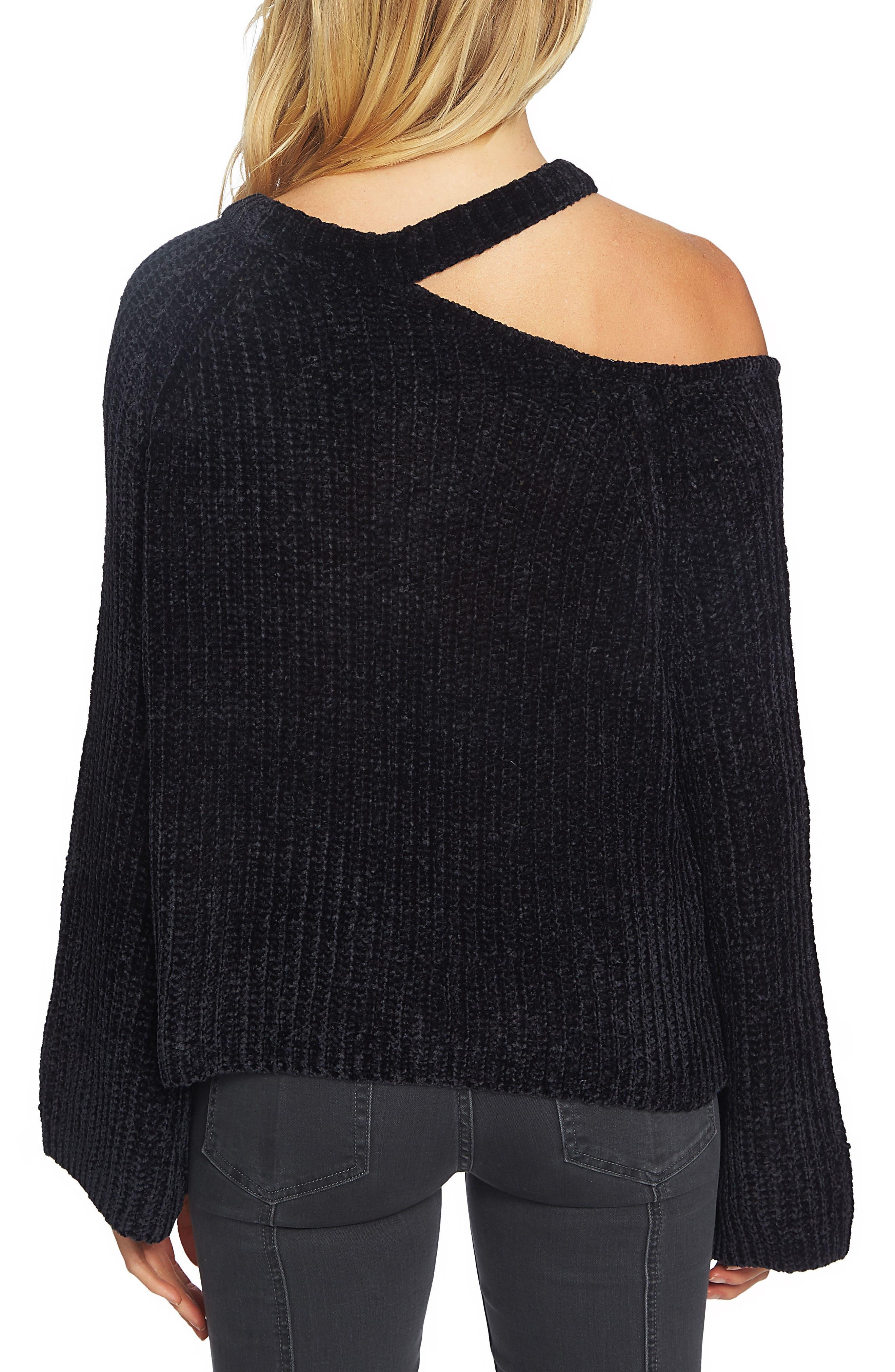 Split Neck Chenille Sweater,                             Alternate thumbnail 2, color,                             006