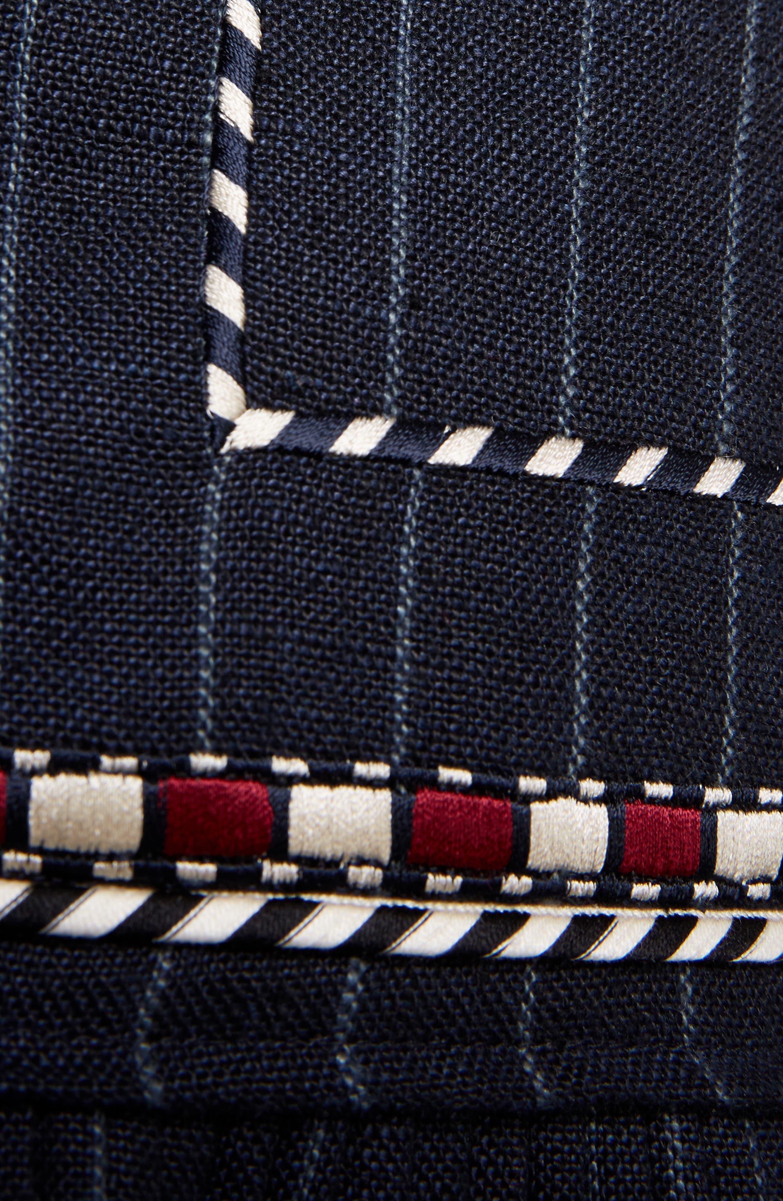 Isabel Marant Étoile Jessie Embroidered Linen Skirt,                             Alternate thumbnail 5, color,                             001
