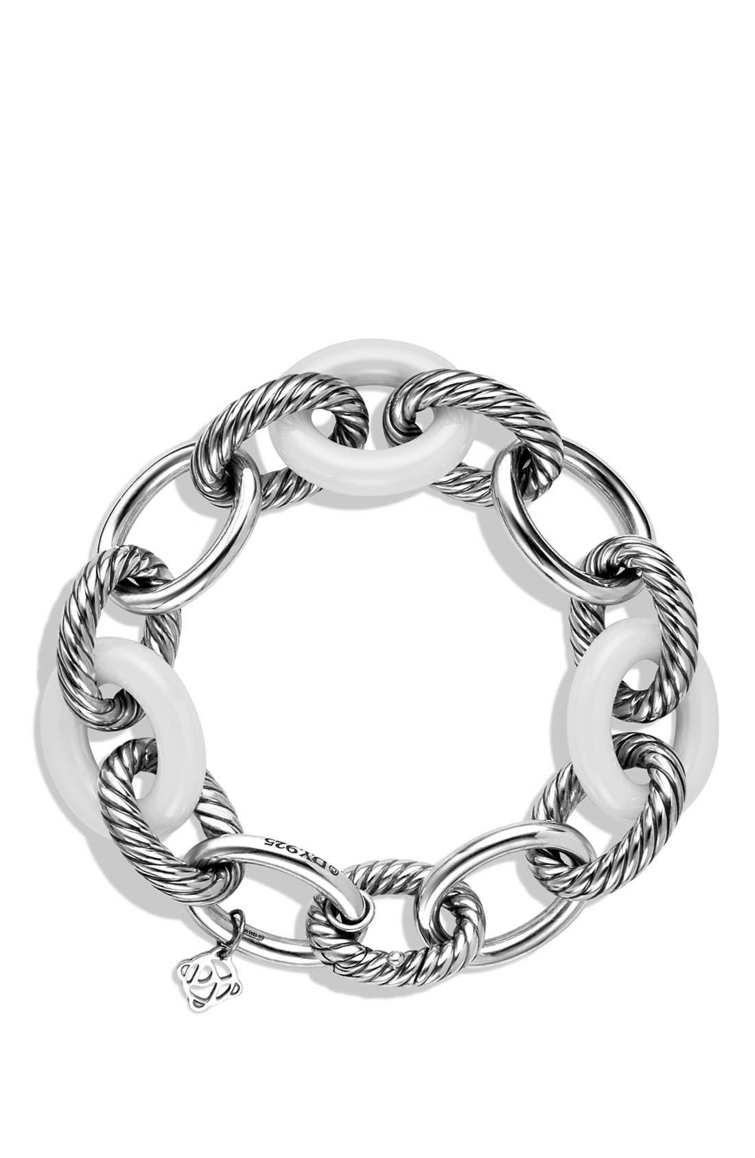 'Oval' Extra-Large Ceramic Link Bracelet,                             Alternate thumbnail 4, color,