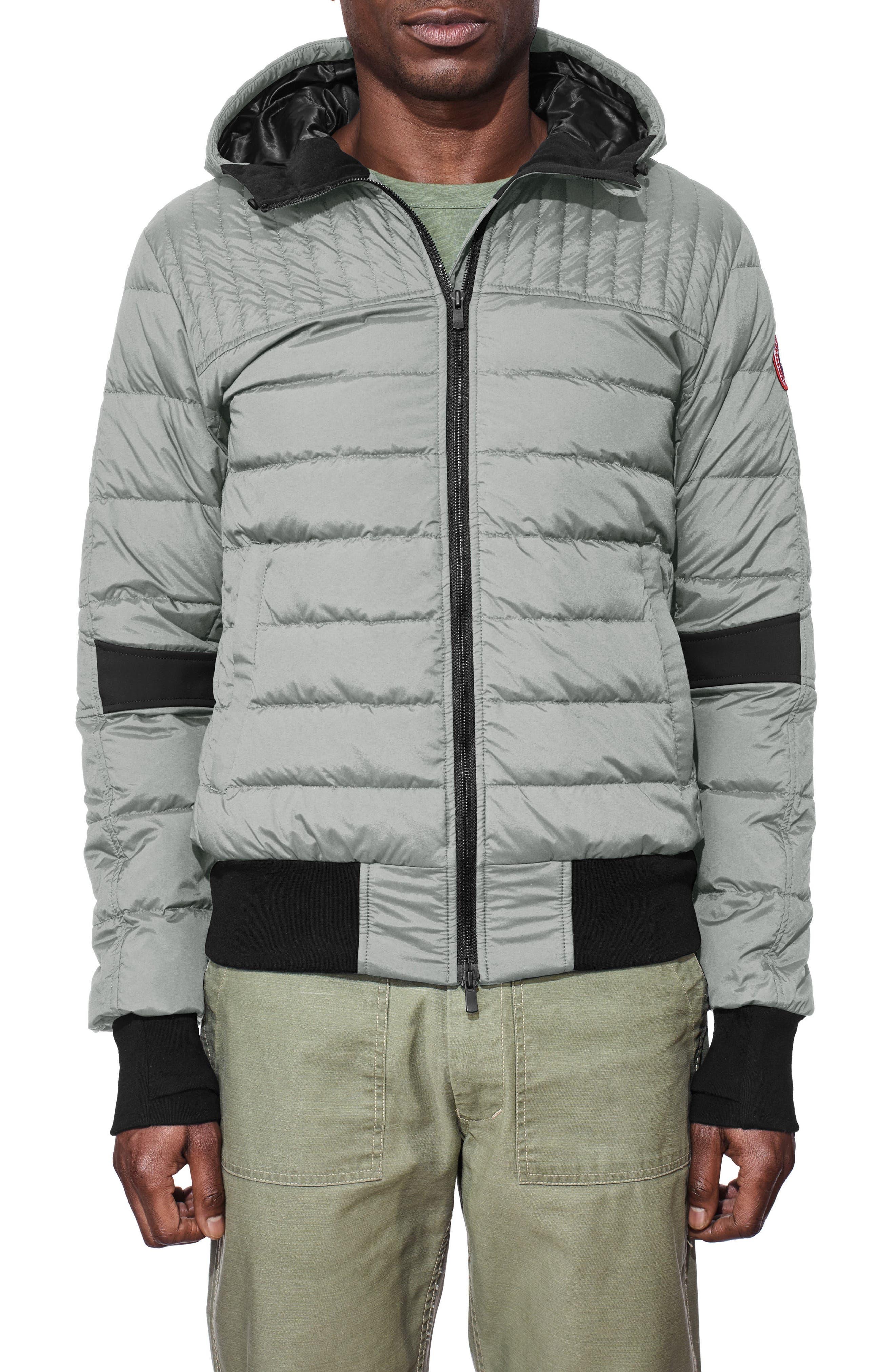 Cabri Hooded Slim Fit Down Jacket,                             Main thumbnail 1, color,                             031