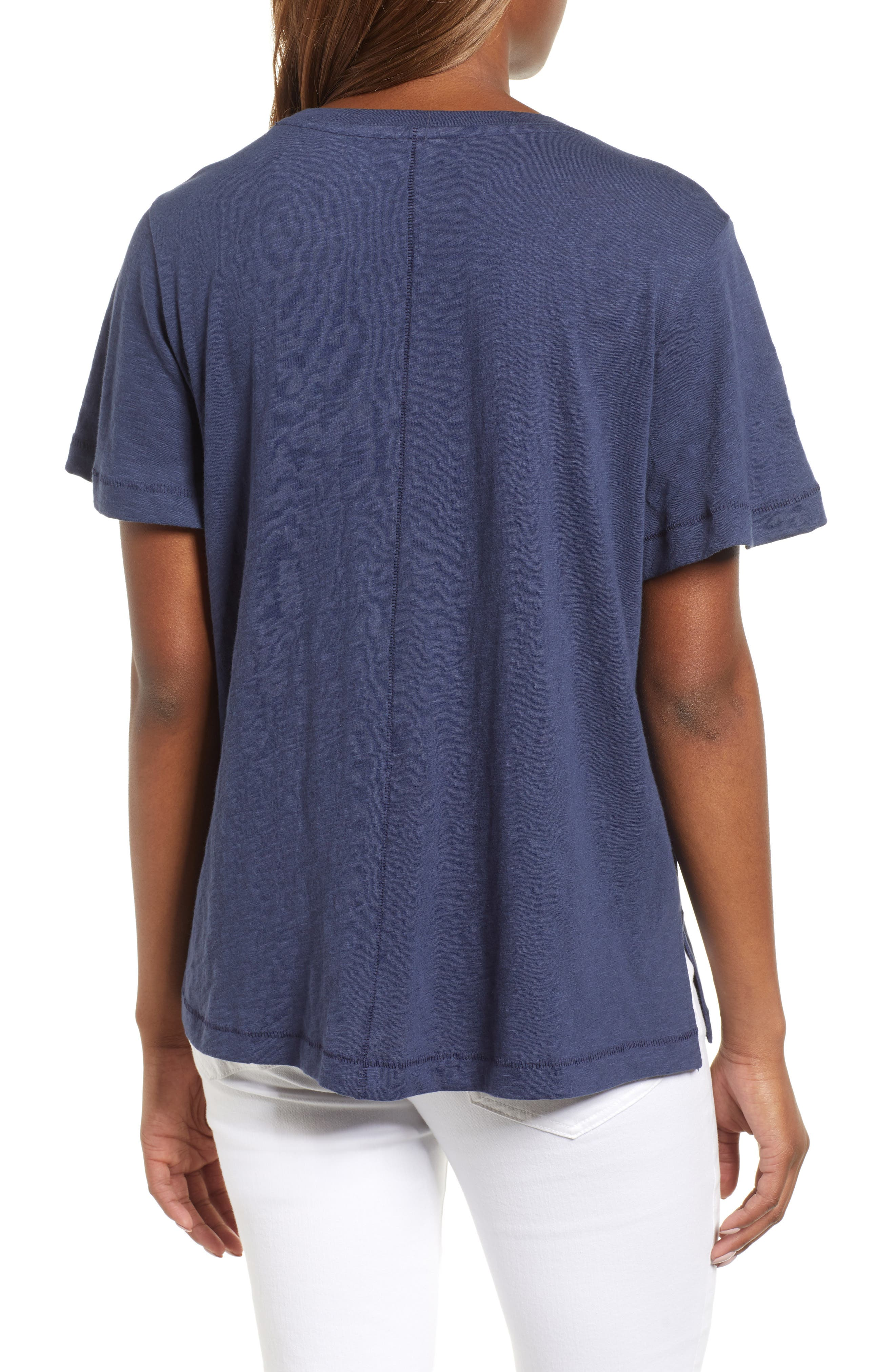 Embroidered Tee,                             Alternate thumbnail 4, color,