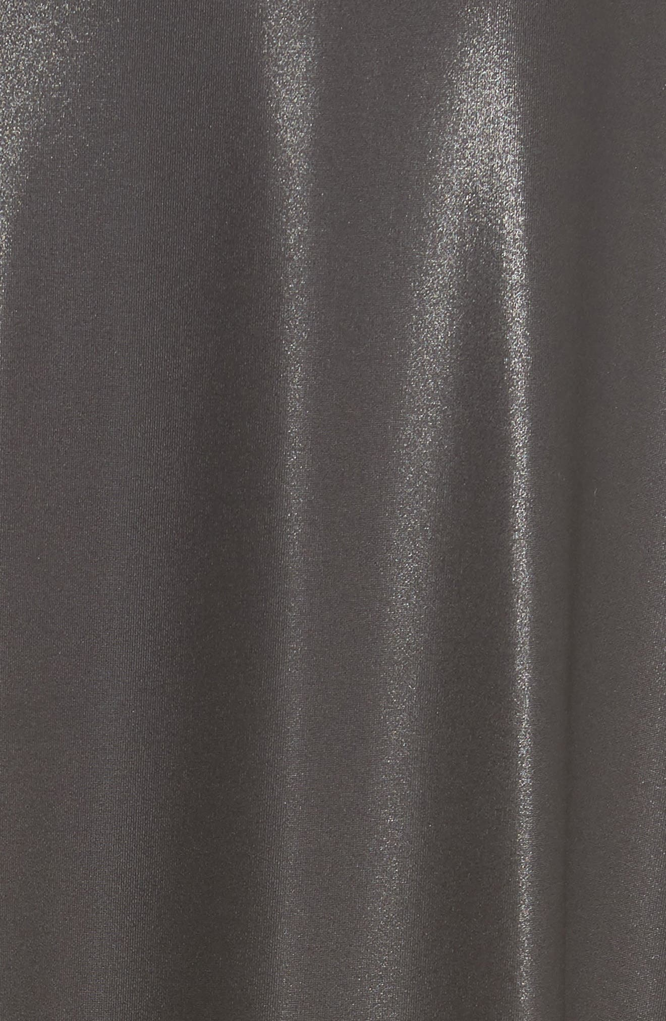 Coated Turtleneck Dress,                             Alternate thumbnail 5, color,                             BLACK