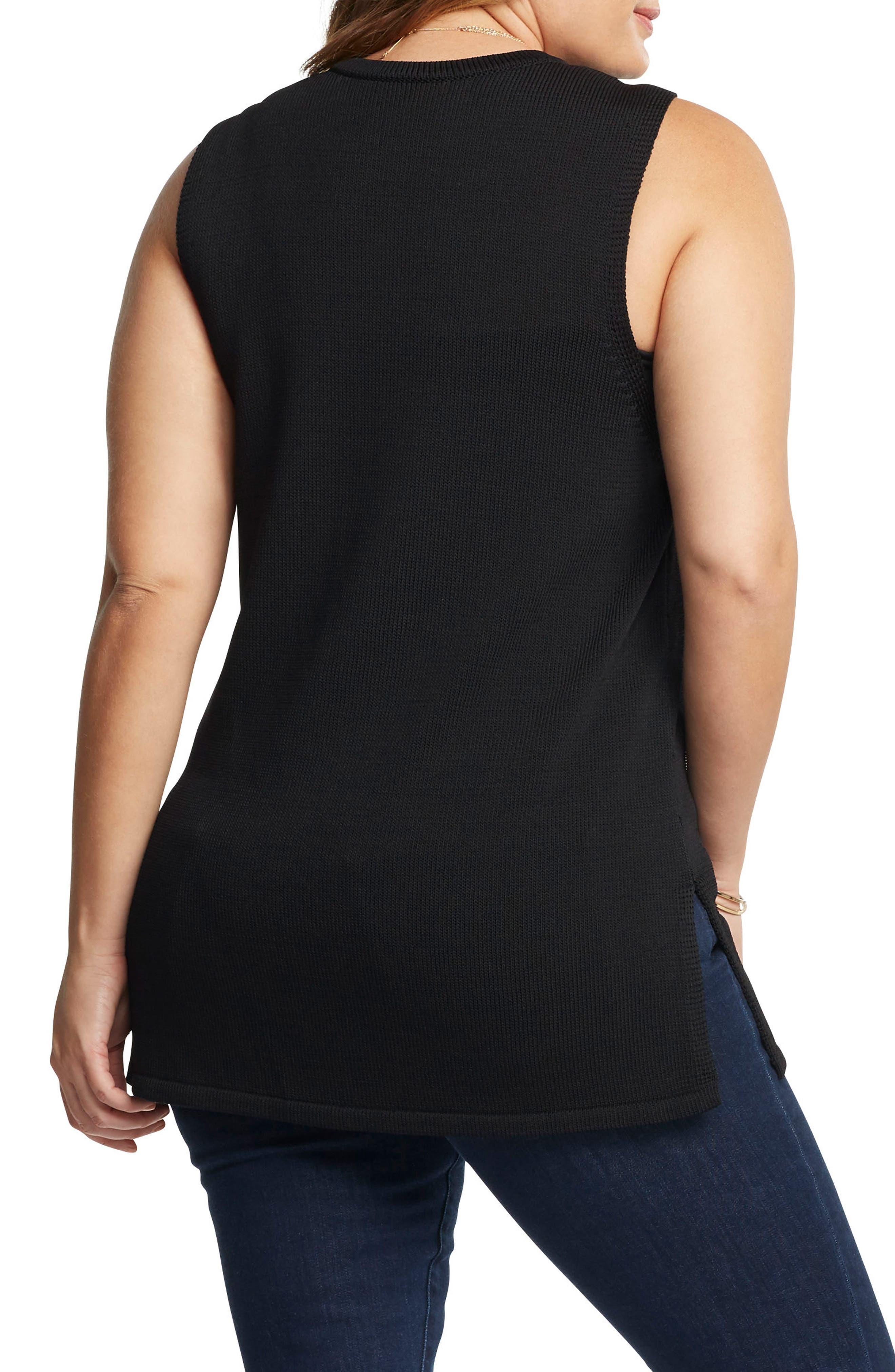 Tash Tunic Sweater,                             Alternate thumbnail 2, color,                             BLACK