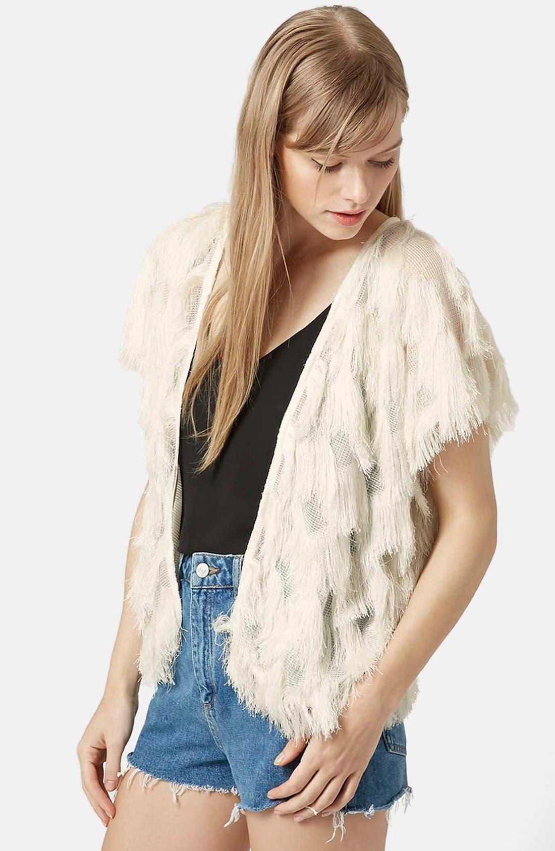Fringe Kimono Jacket, Main, color, 900