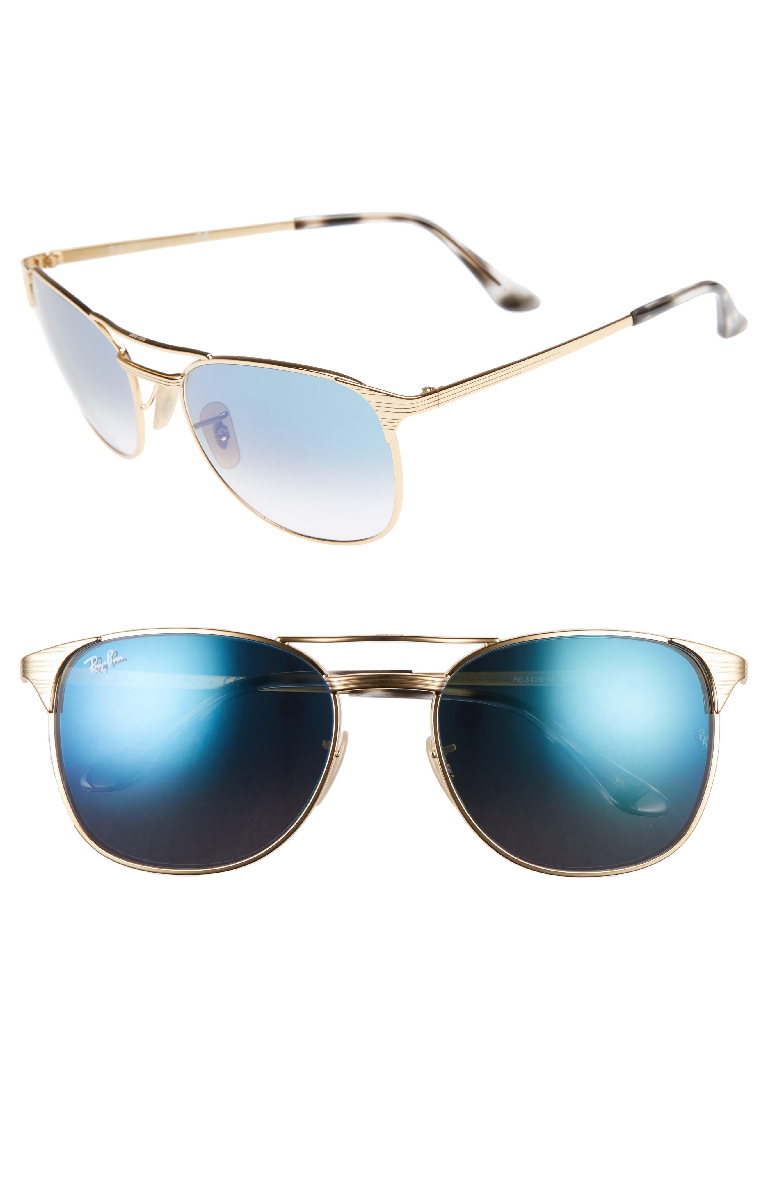 Ray-Ban Signet 5m Square Sunglasses - Gold/gradient Blue