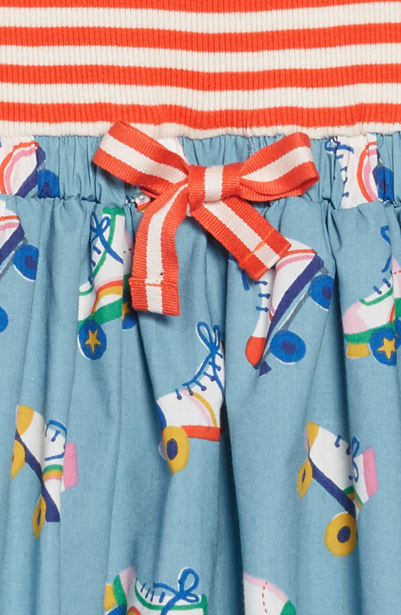 Hopscotch Dress,                             Alternate thumbnail 3, color,                             BLUE ROLLER SKATES
