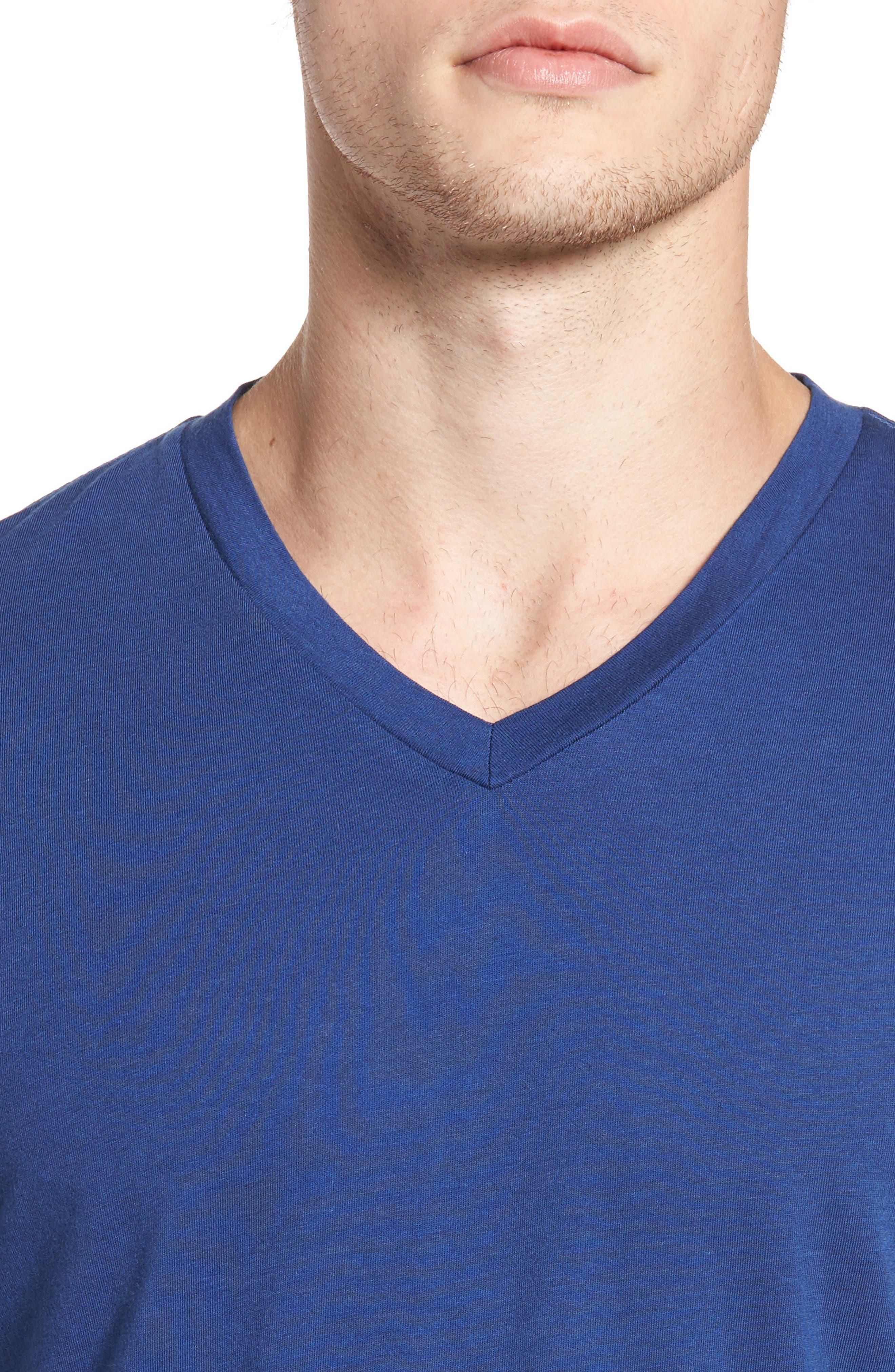Essential V-Neck T-Shirt,                             Alternate thumbnail 32, color,