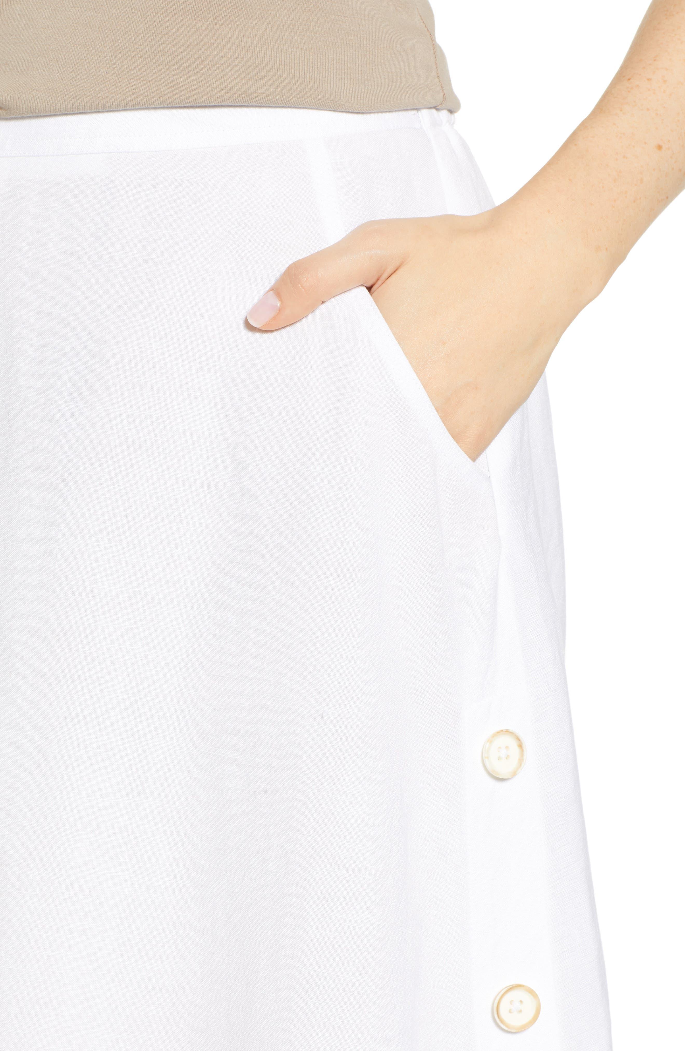 Front Runner Skirt,                             Alternate thumbnail 4, color,                             PAPER WHITE