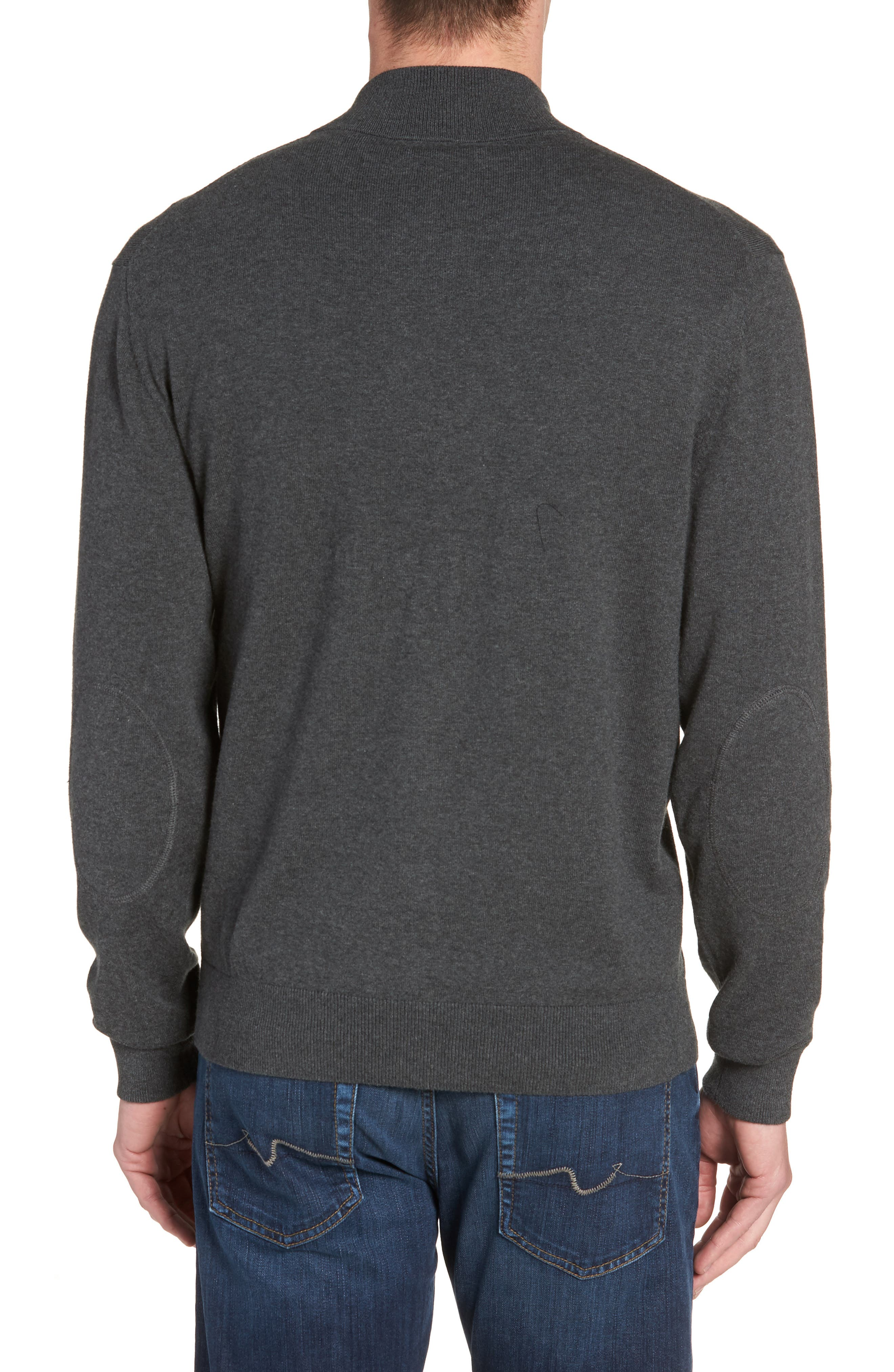 Tampa Bay Buccaneers - Lakemont Regular Fit Quarter Zip Sweater,                             Alternate thumbnail 2, color,                             CHARCOAL HEATHER