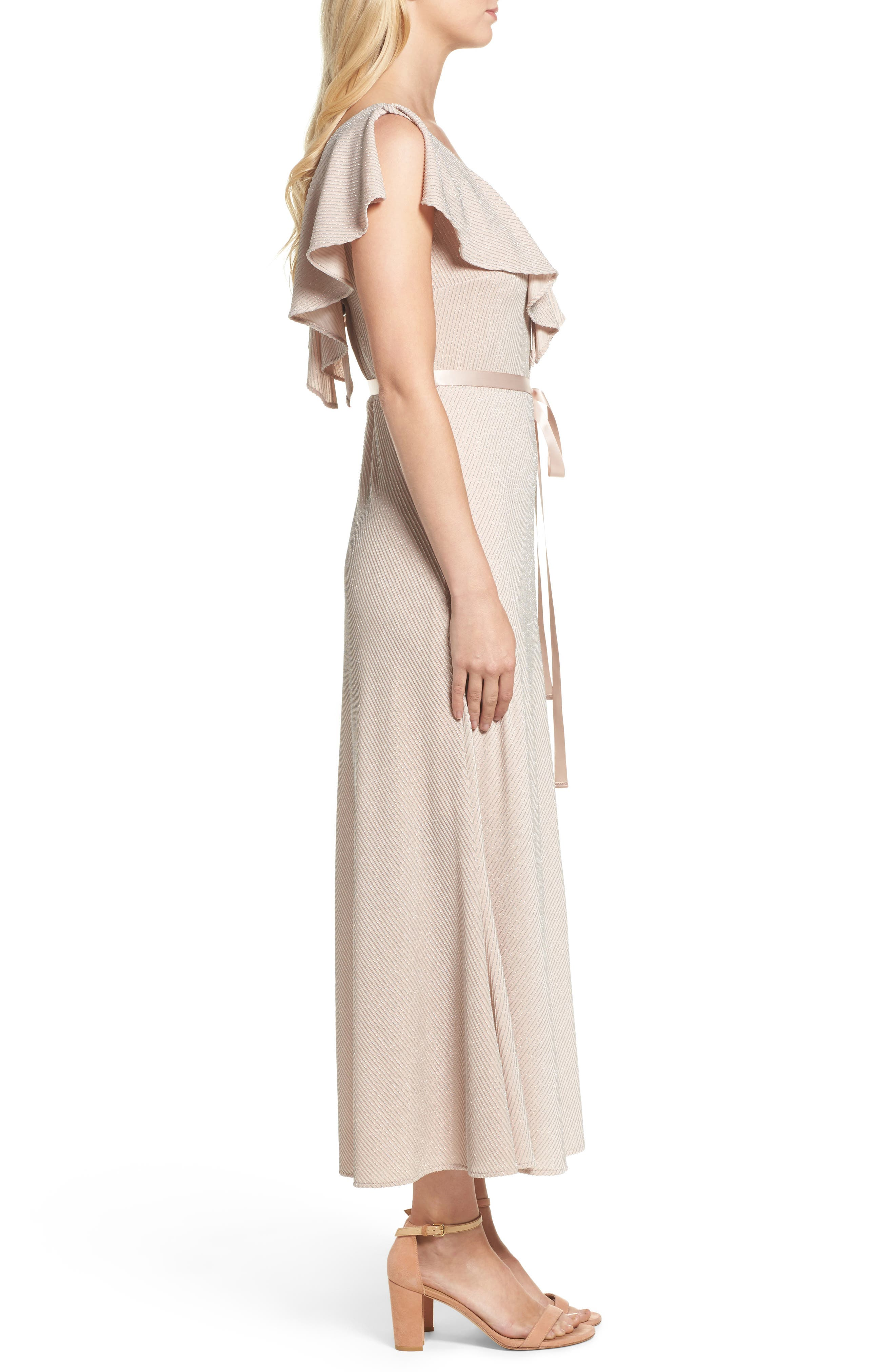 Ruffle Maxi Dress,                             Alternate thumbnail 3, color,                             253