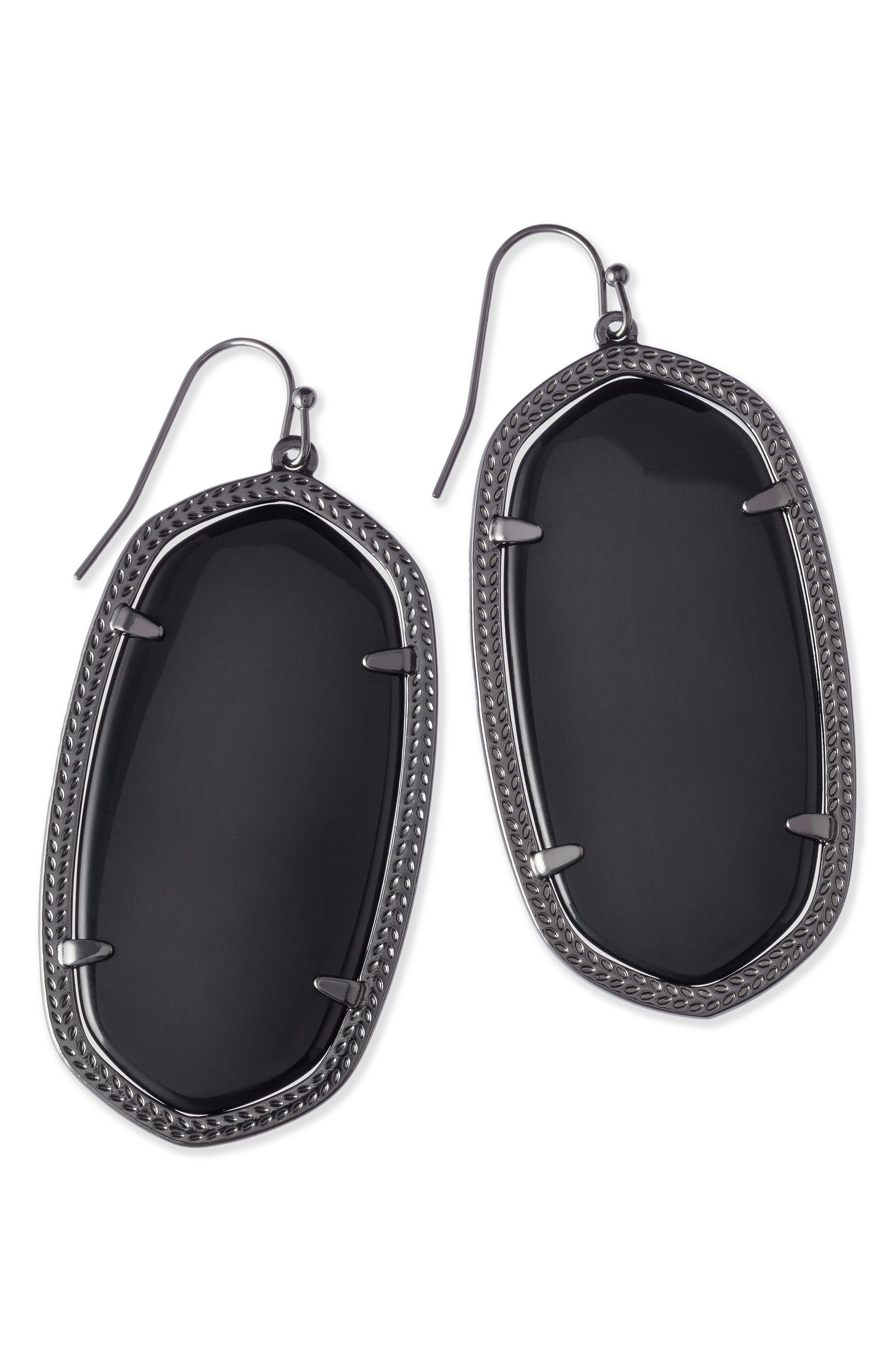 Danielle - Large Oval Statement Earrings,                             Alternate thumbnail 300, color,