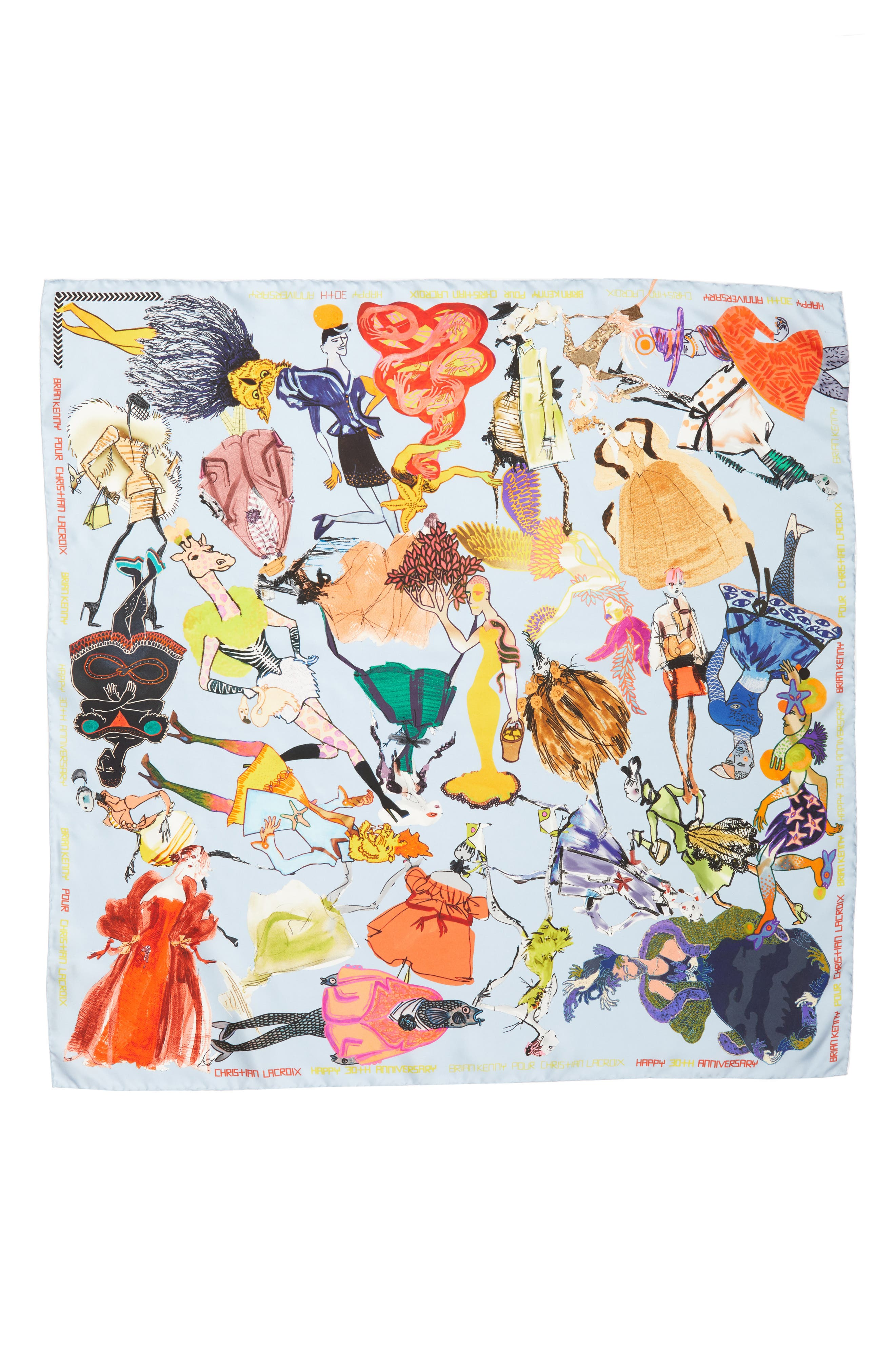 x Brian Kenny Sweetie Silk Scarf,                         Main,                         color, 419