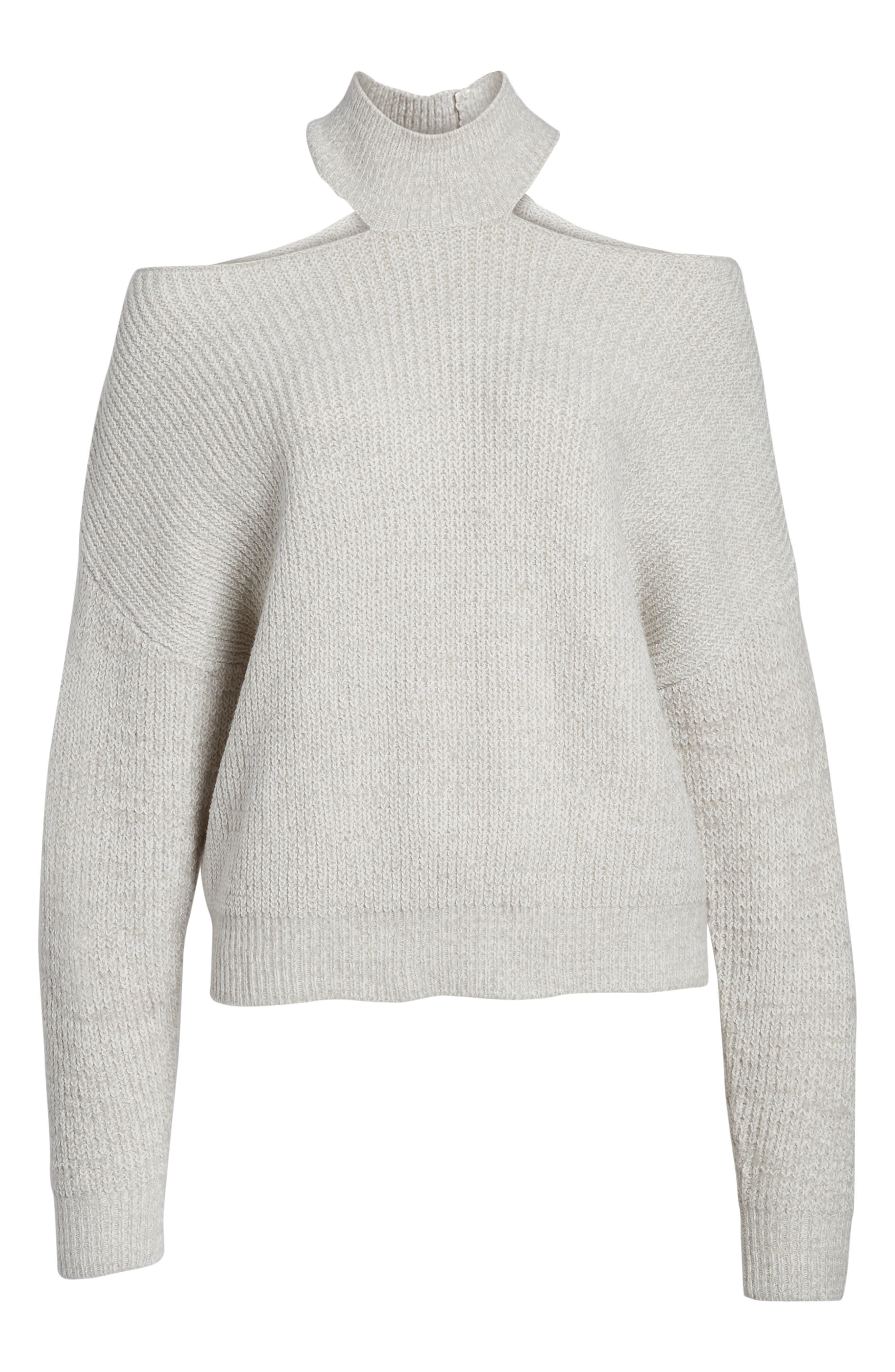 Cutout Turtleneck Sweater,                             Alternate thumbnail 12, color,