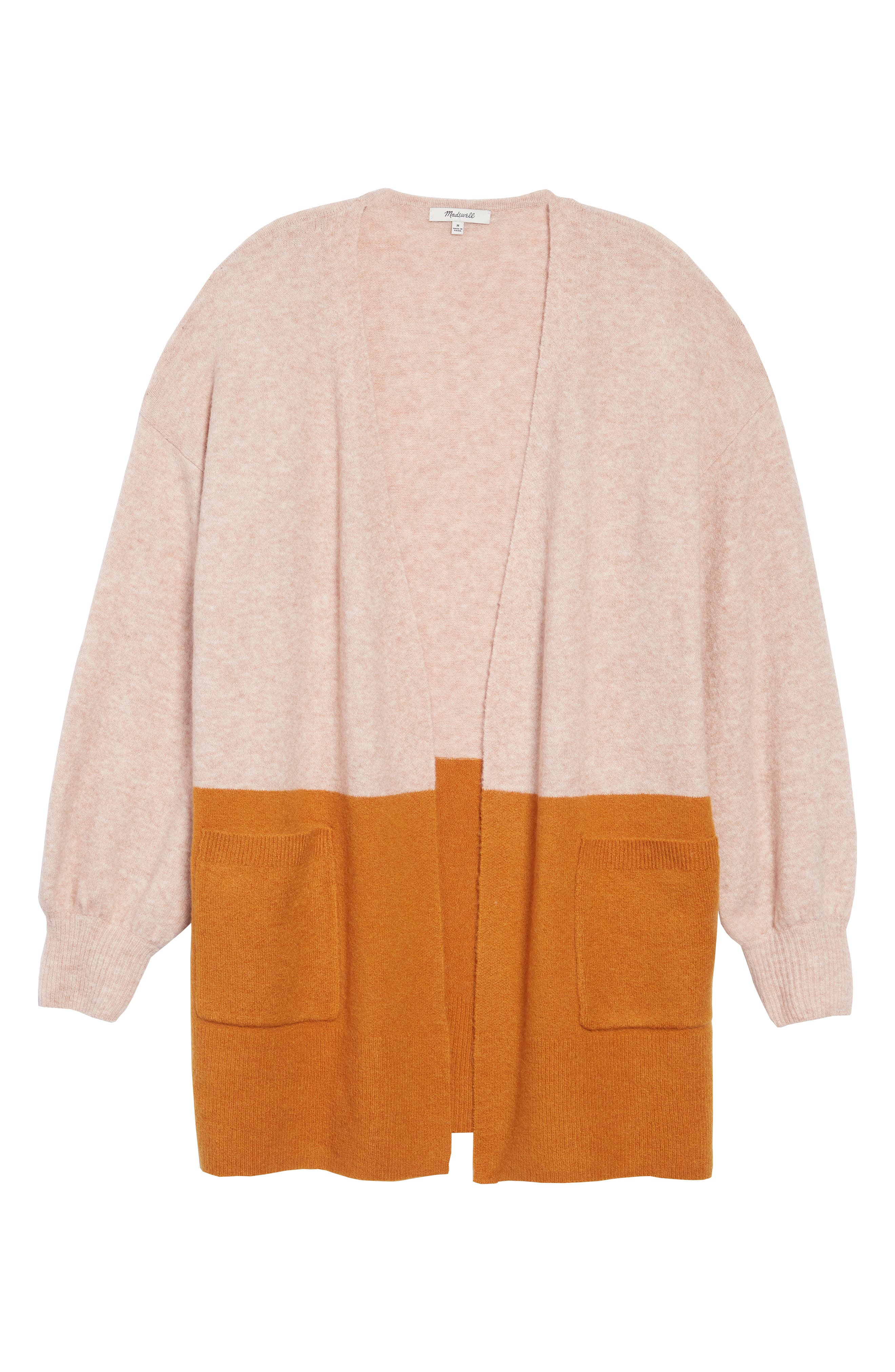 Plus Size Madewell Edgewater Colorblock Cardigan, Size - Pink