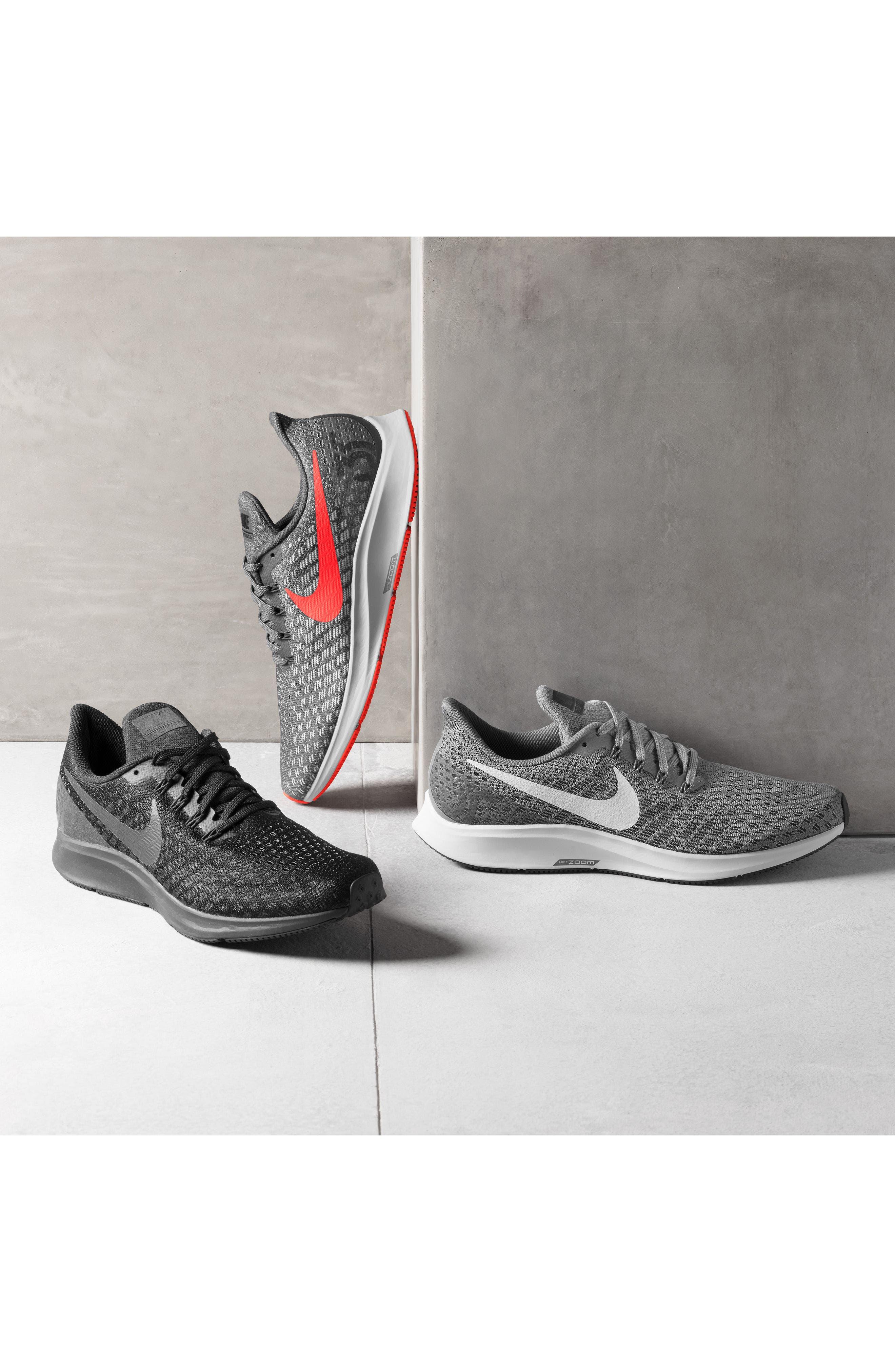 Air Zoom Pegasus 35 Running Shoe,                             Alternate thumbnail 8, color,                             BLACK/ PEWTER/ MOSS