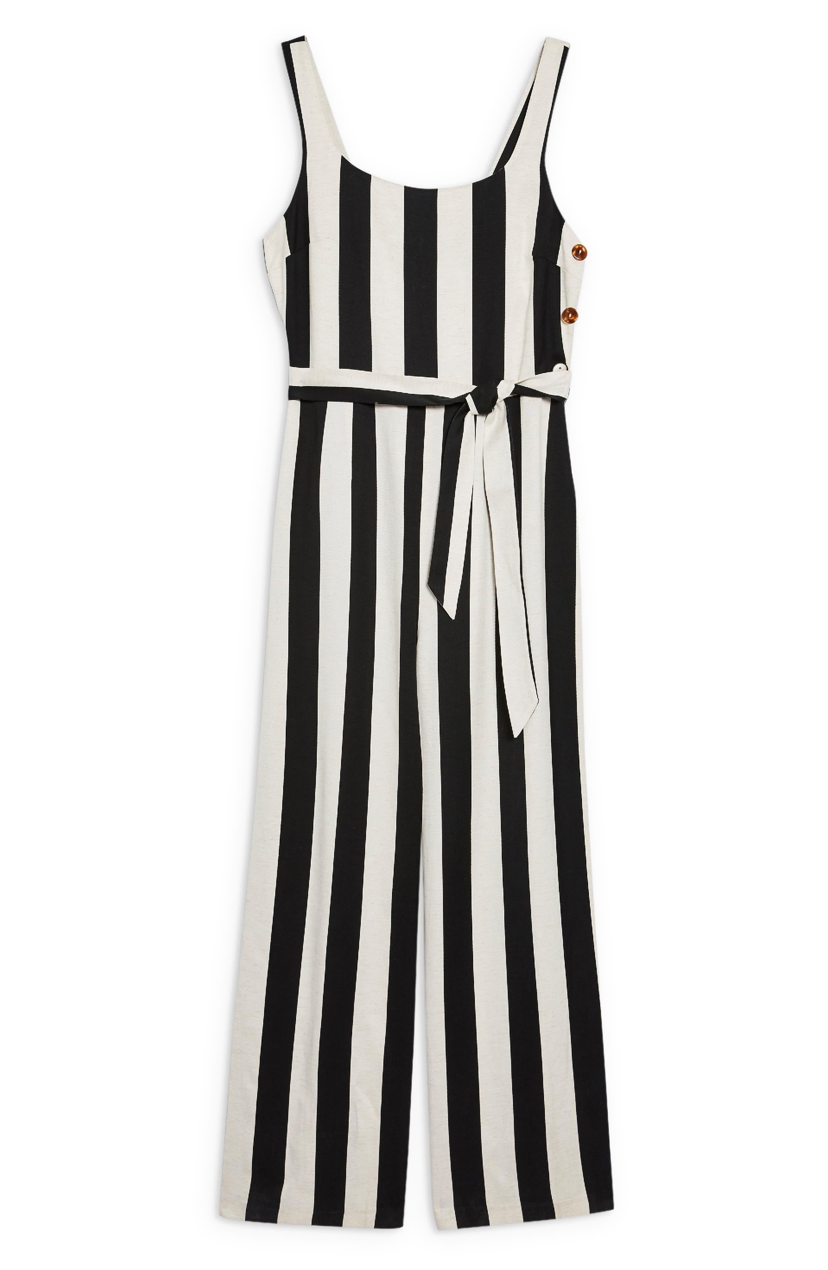 Humbug Striped Jumpsuit,                             Alternate thumbnail 6, color,                             BLACK MULTI