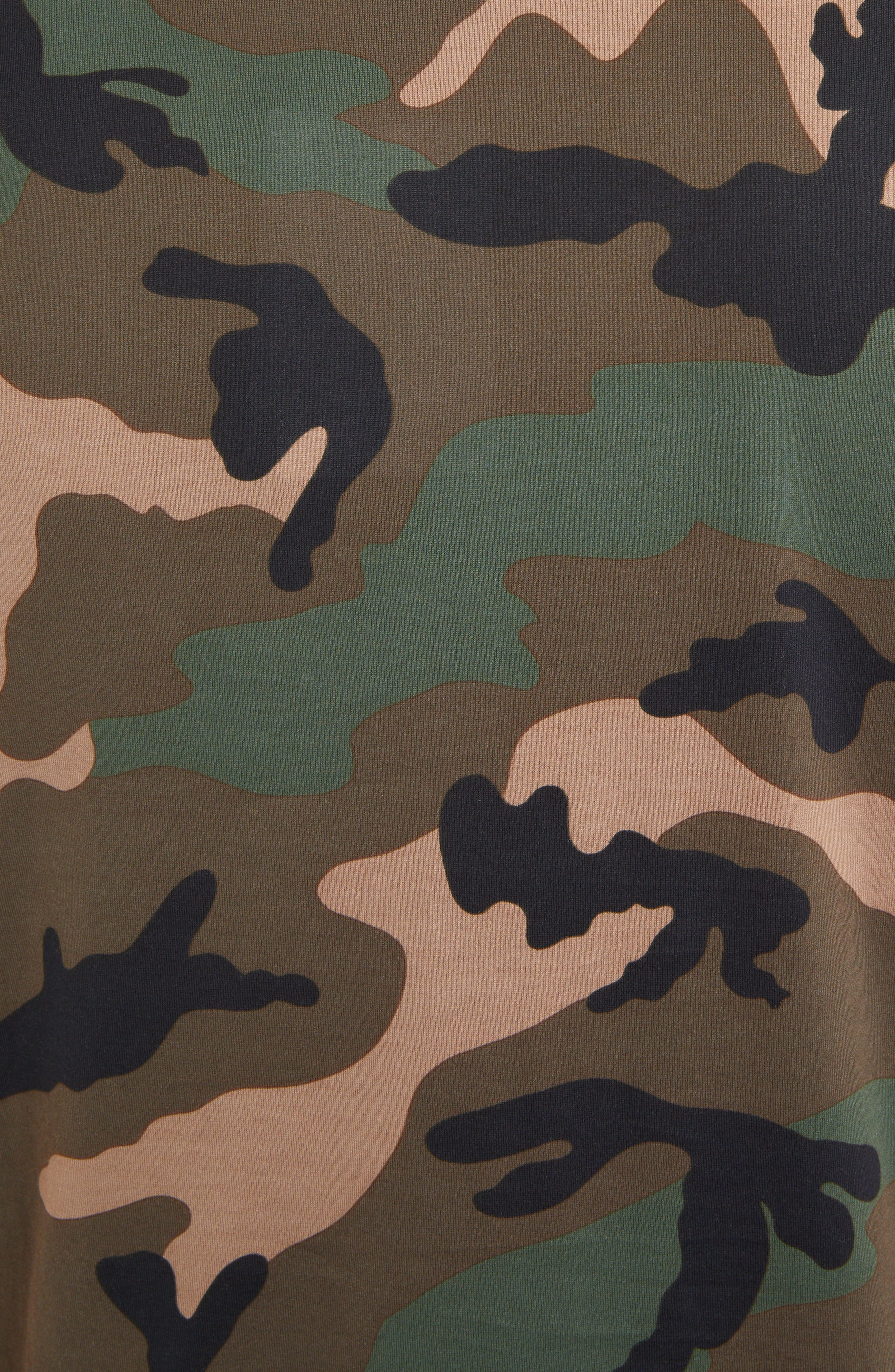 Camo Logo T-Shirt,                             Alternate thumbnail 5, color,                             CAMOU ARMY