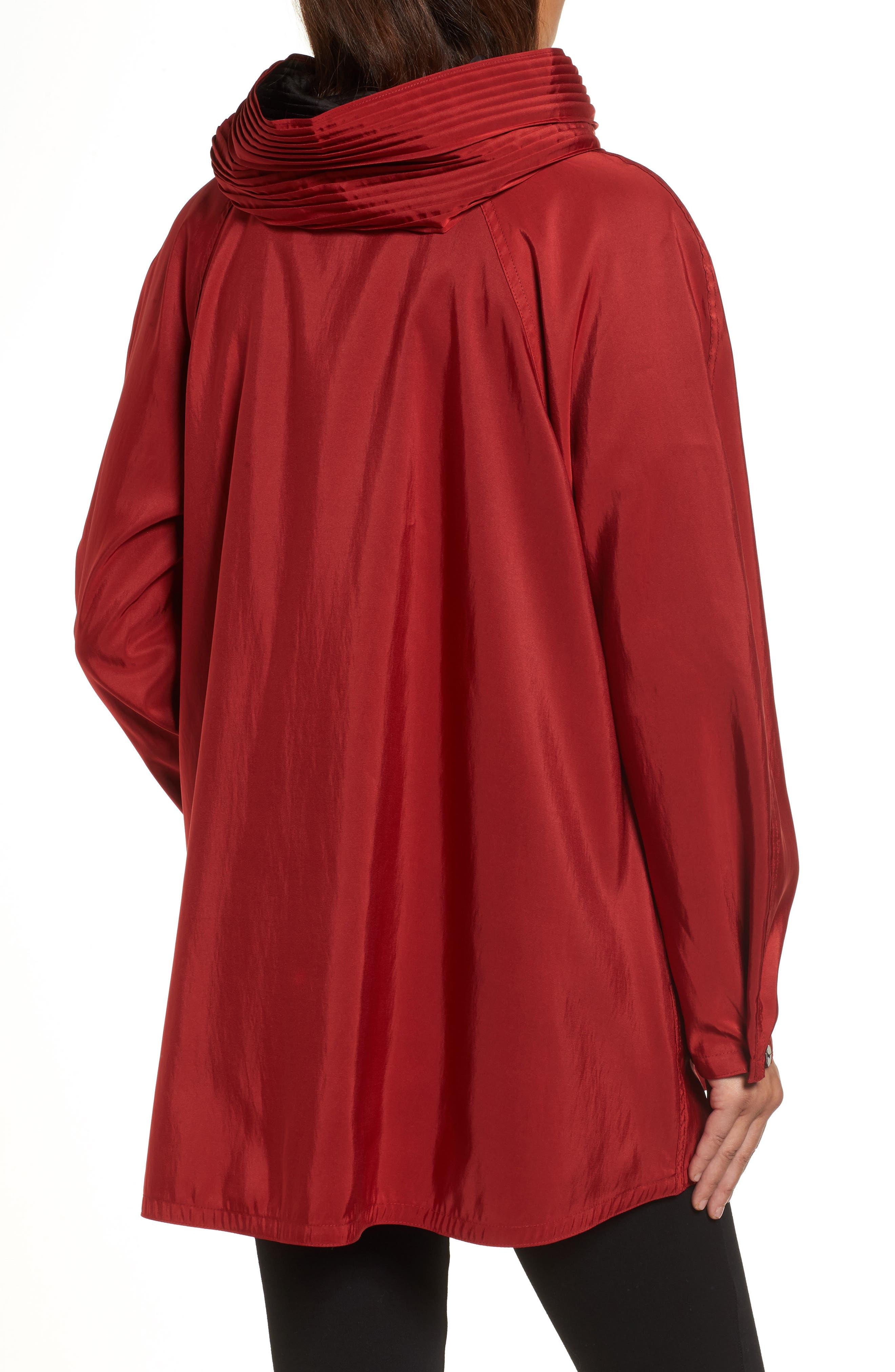'Mini Donatella' Reversible Pleat Hood Packable Travel Coat,                             Alternate thumbnail 18, color,