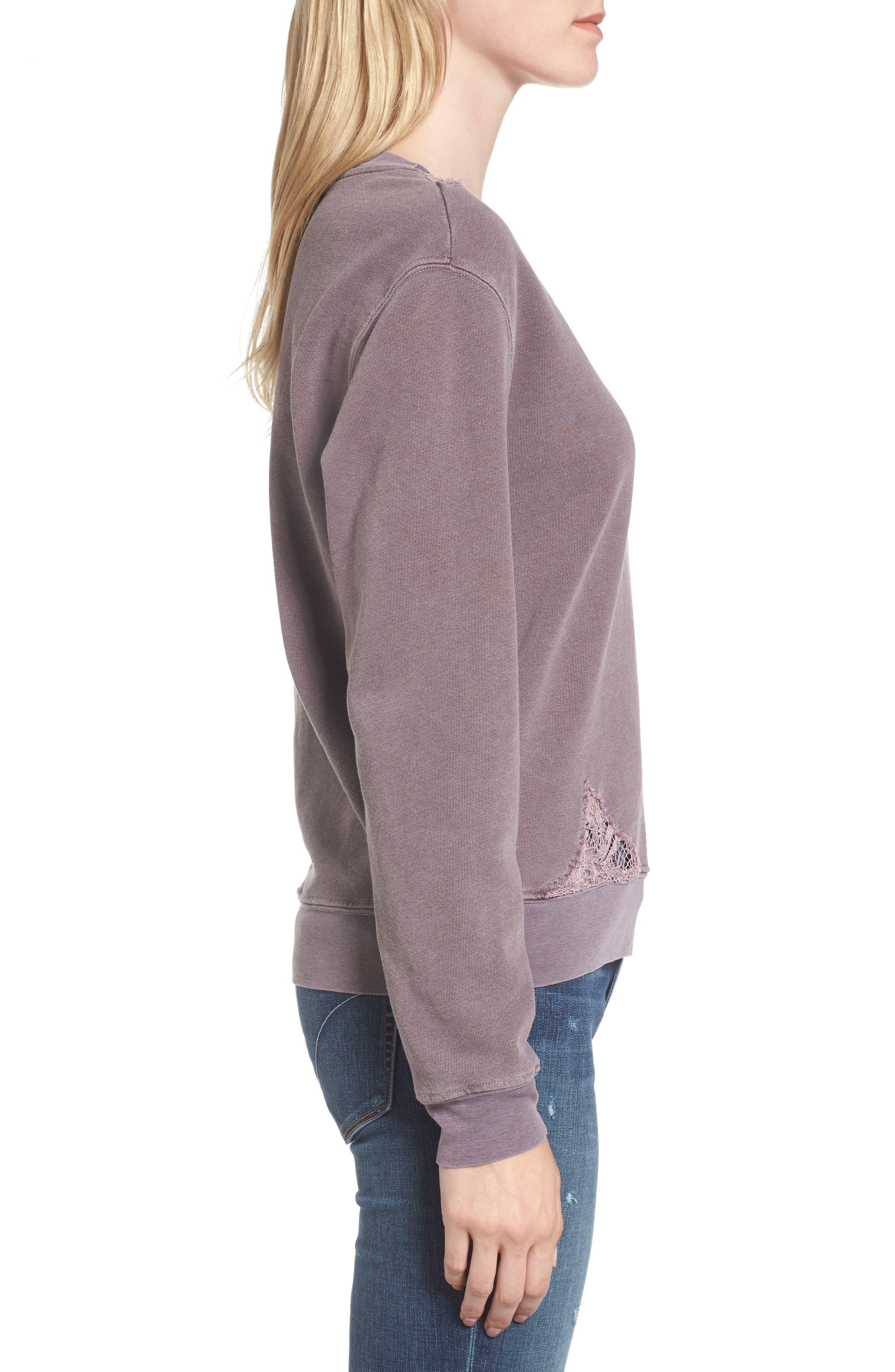 Lace Trim Sweatshirt,                             Alternate thumbnail 9, color,