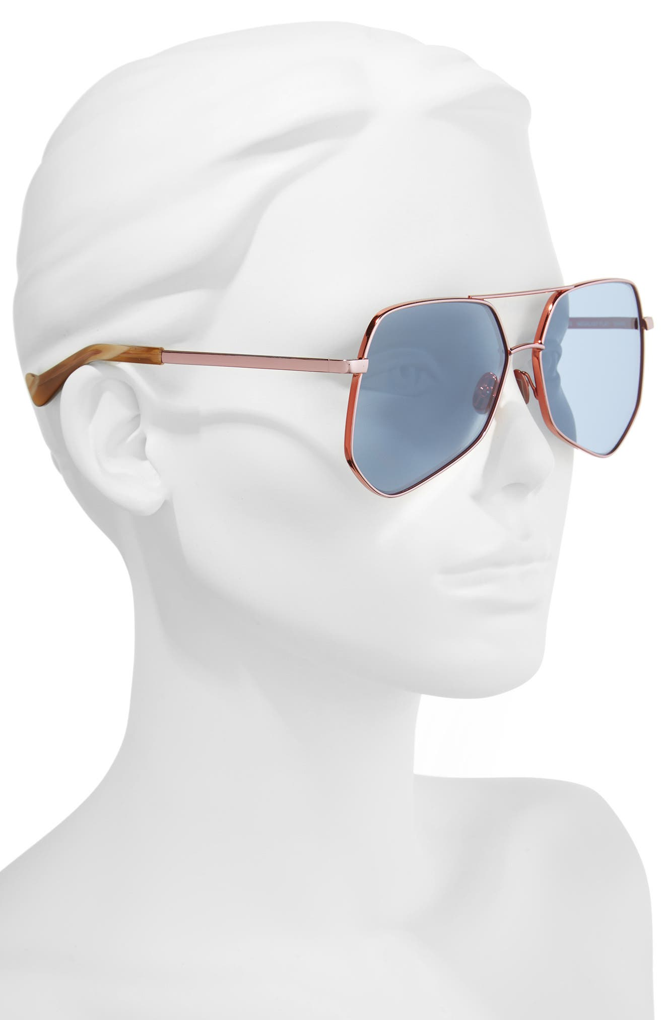 Megalast Flat 61mm Sunglasses,                             Alternate thumbnail 2, color,                             COPPER PINK / LIGHT BLUE