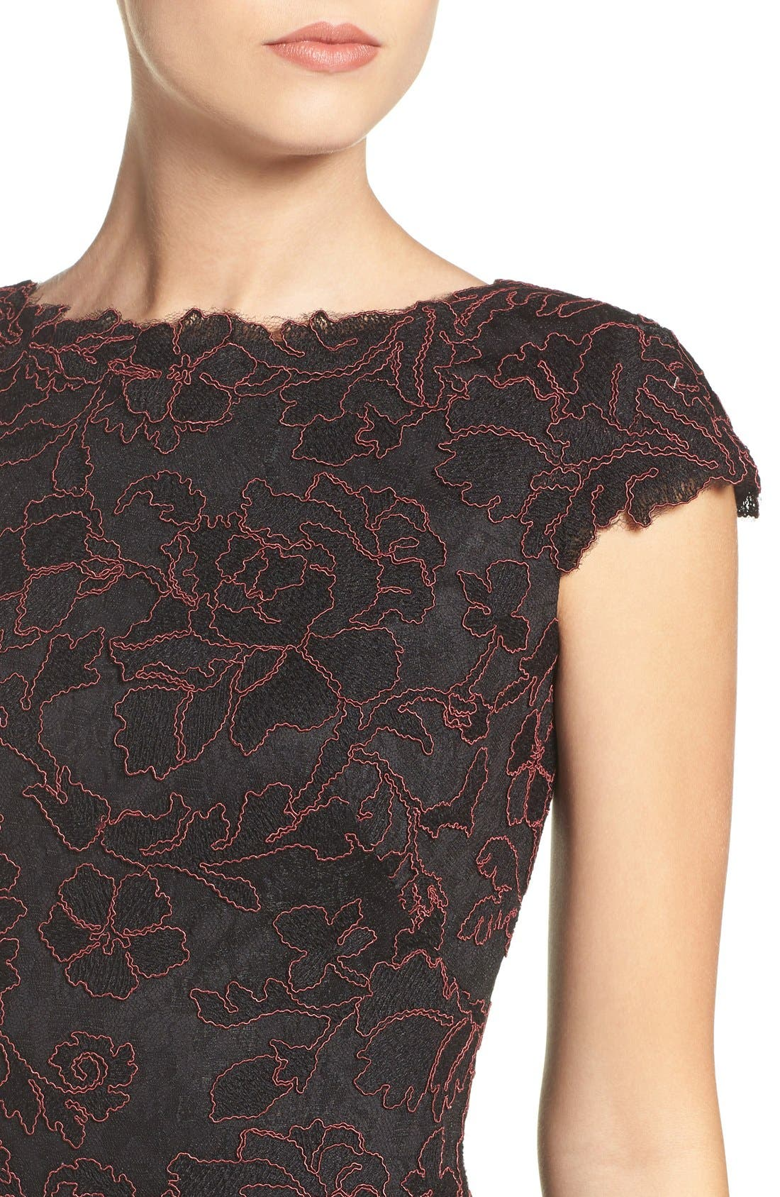 Embroidered Lace Fit & Flare Dress,                             Alternate thumbnail 13, color,