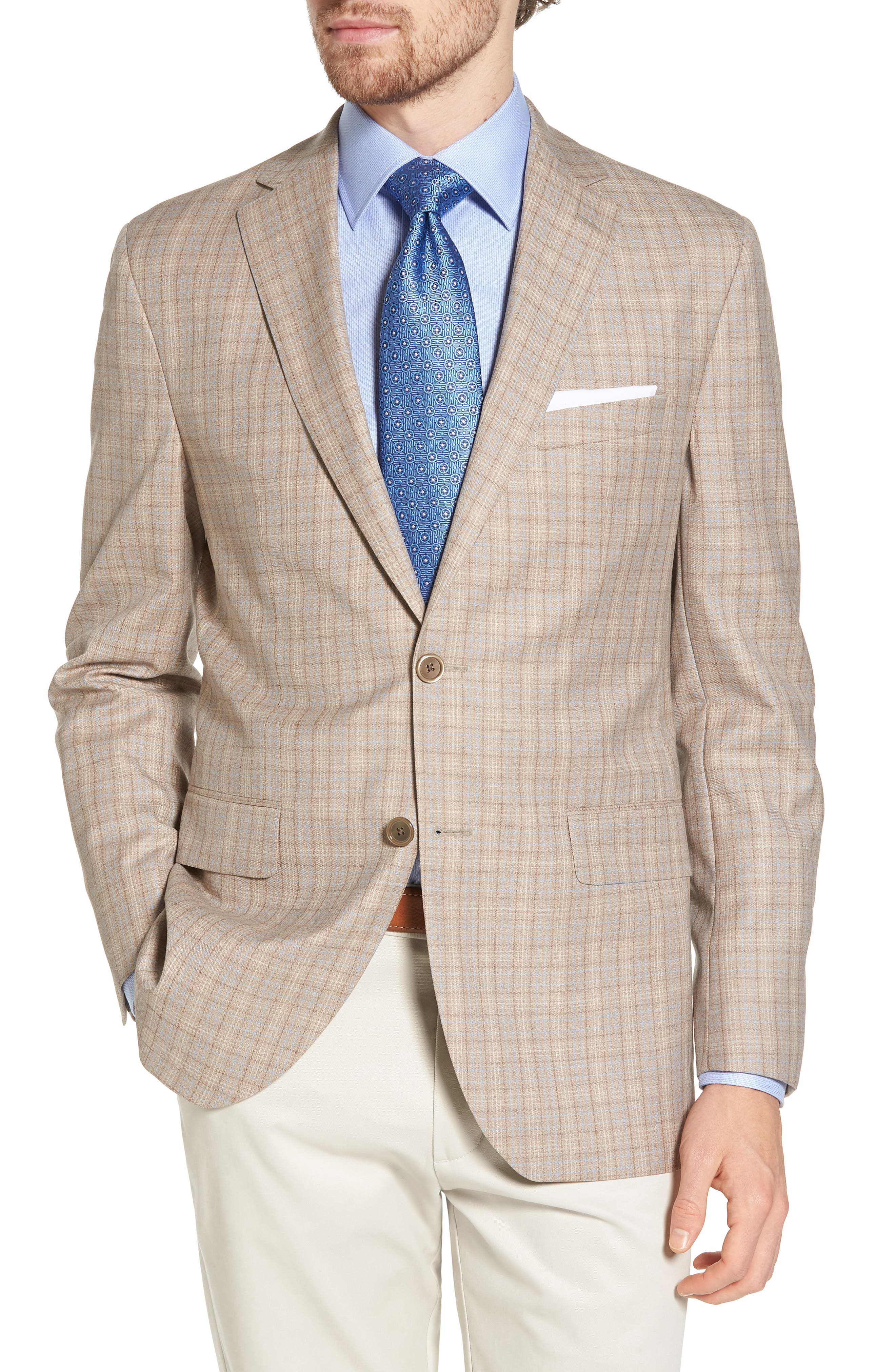 Arnold Classic Fit Plaid Wool Sport Coat,                         Main,                         color,