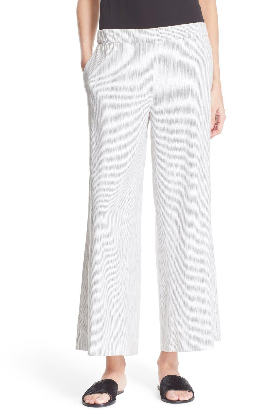 'Raoka' Wide Leg Crop Pants, Main, color, 901