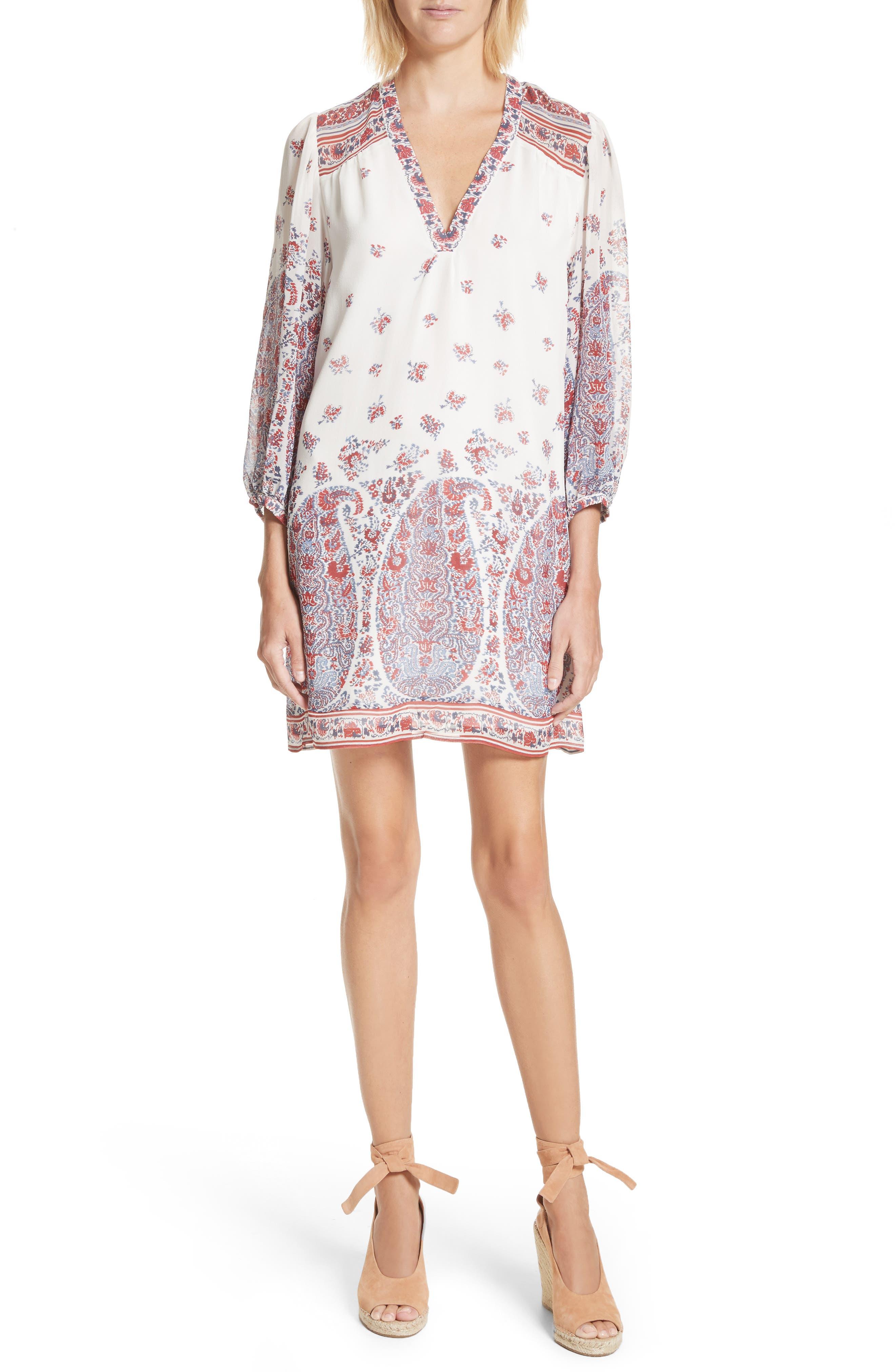 Ofelie Silk Shirtdress,                         Main,                         color, 641