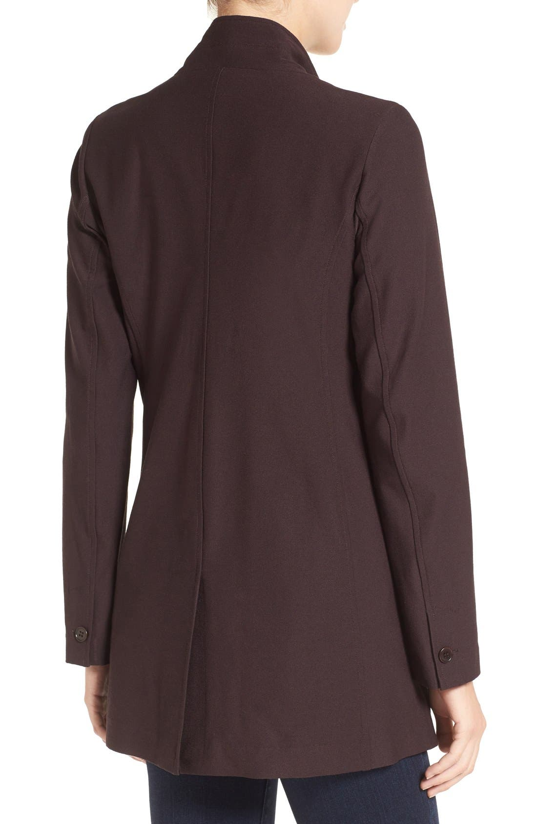Washable Stretch Crepe Stand Collar Jacket,                             Alternate thumbnail 5, color,