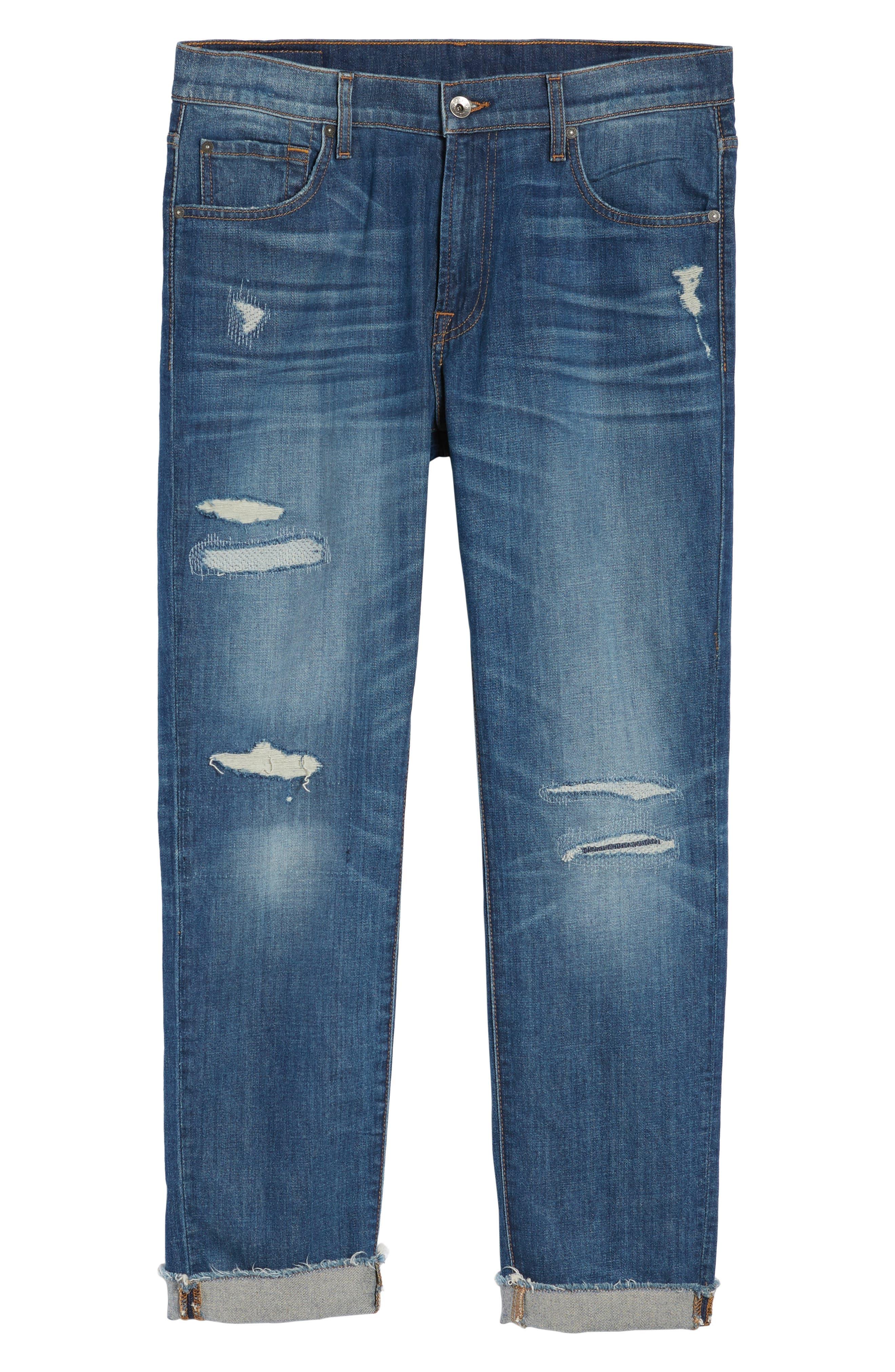 Adrien Slim Fit Jeans,                             Alternate thumbnail 6, color,                             403