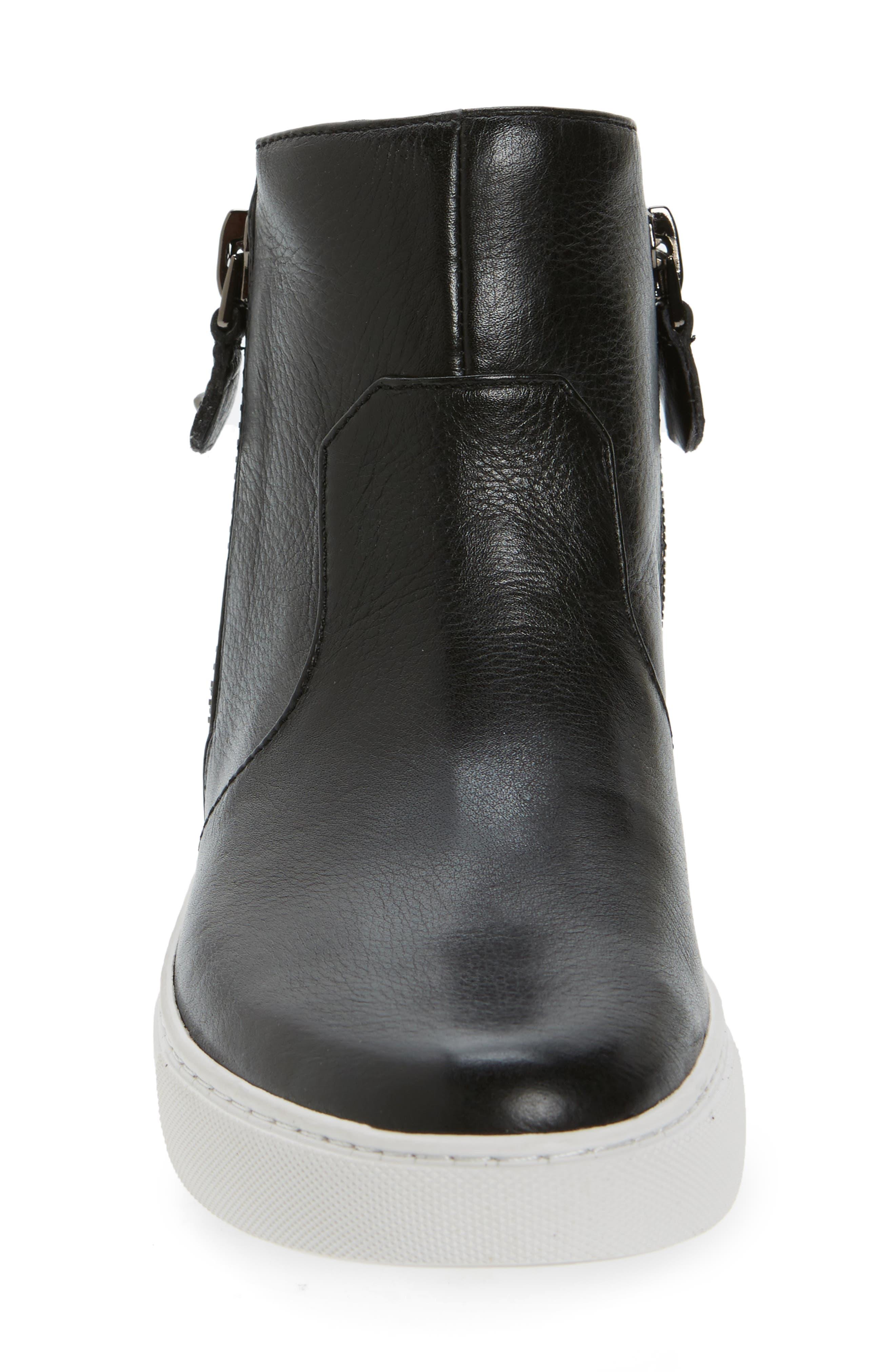 Carole Zip Sneaker,                             Alternate thumbnail 3, color,                             001