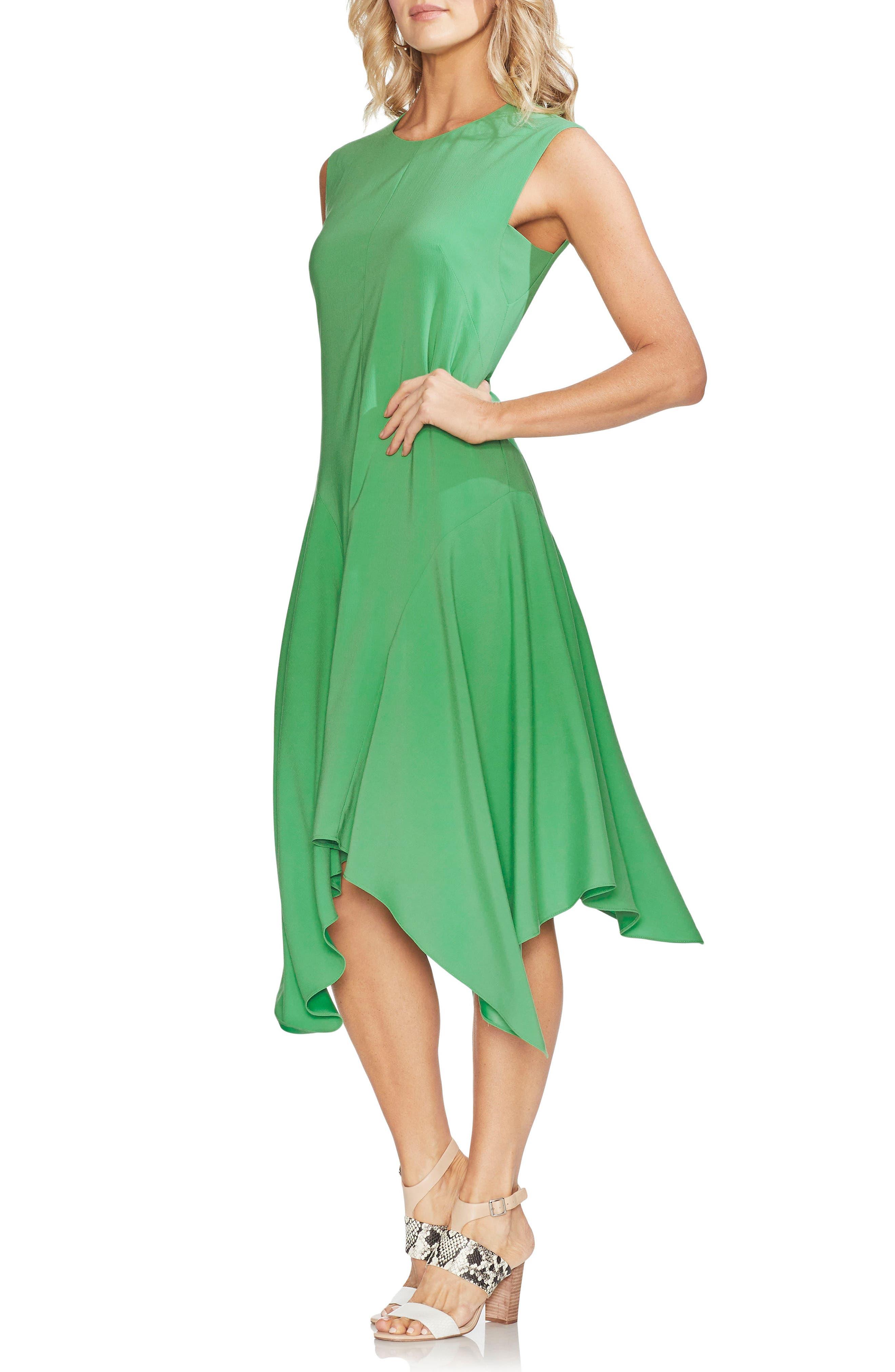 Vince Camuto Handkerchief Hem Dress, Green