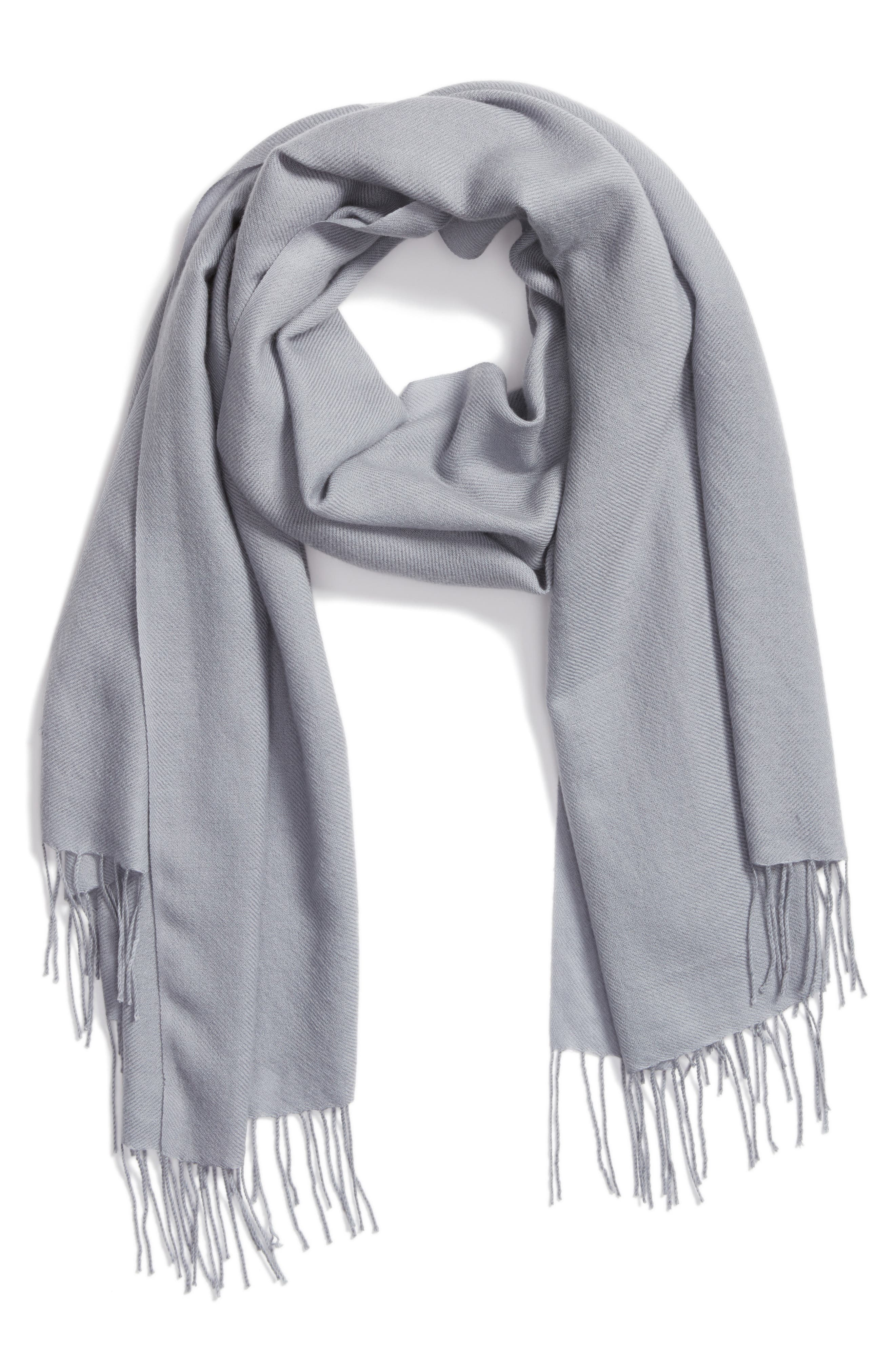 Tissue Weight Wool & Cashmere Scarf,                             Alternate thumbnail 87, color,