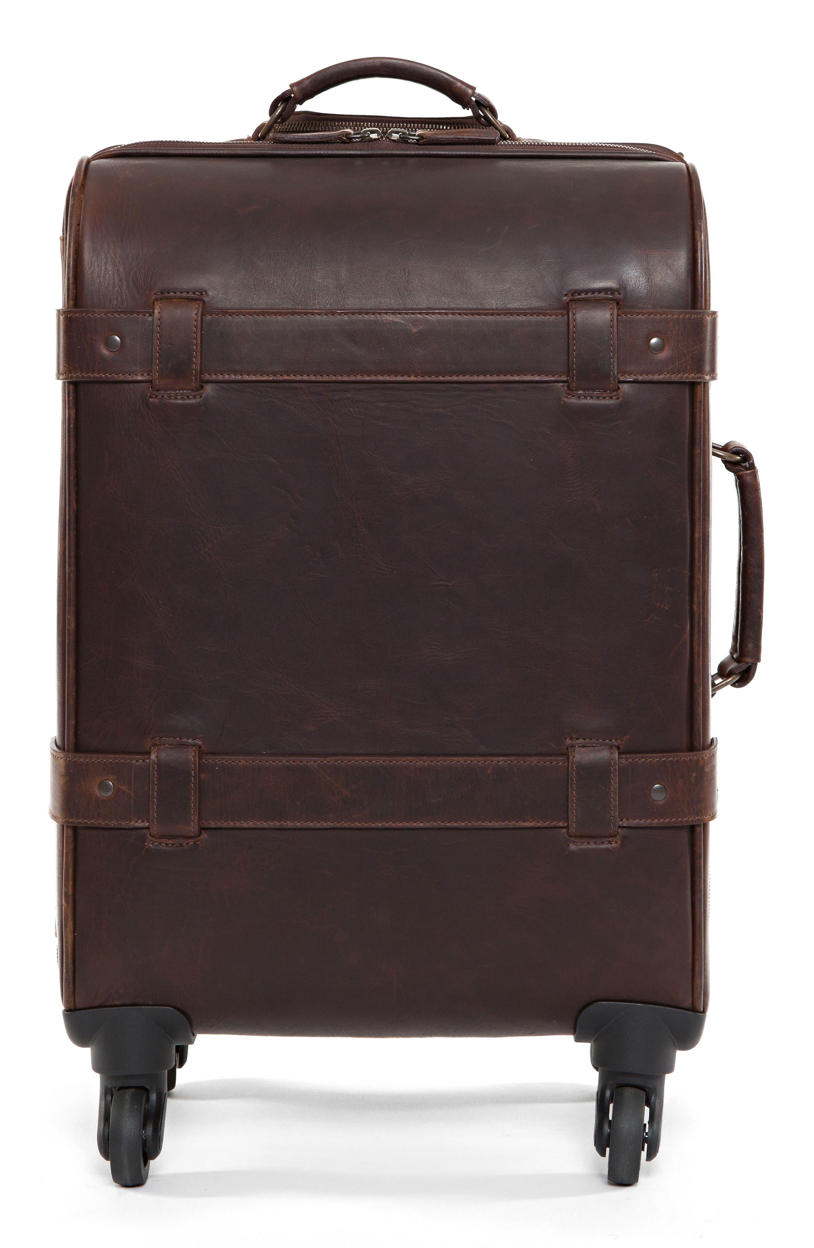 Parker 22-Inch Leather Wheeled Suitcase,                             Main thumbnail 1, color,                             BALDWIN OAK