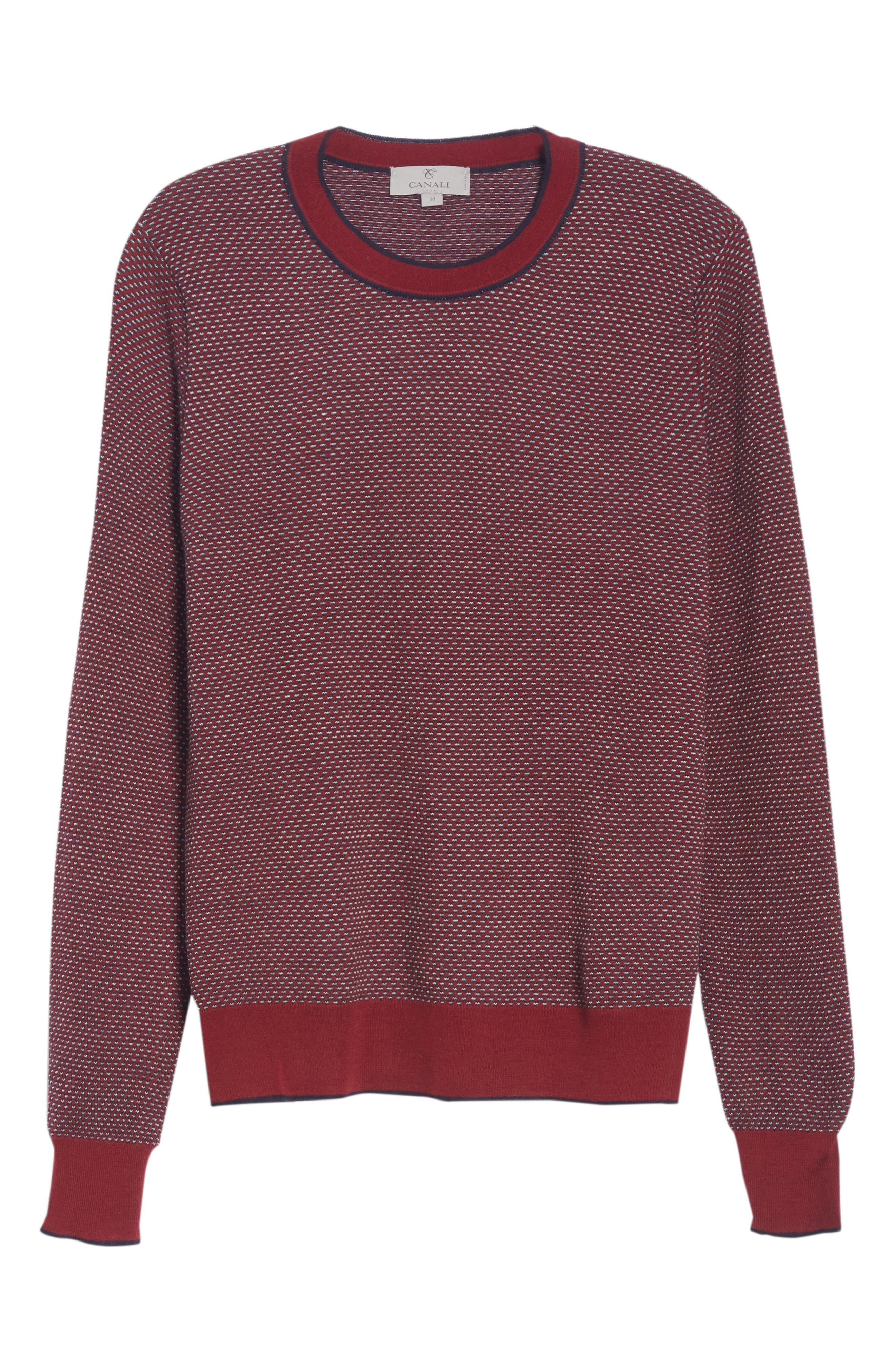 Crewneck Wool Sweater,                             Alternate thumbnail 6, color,                             600