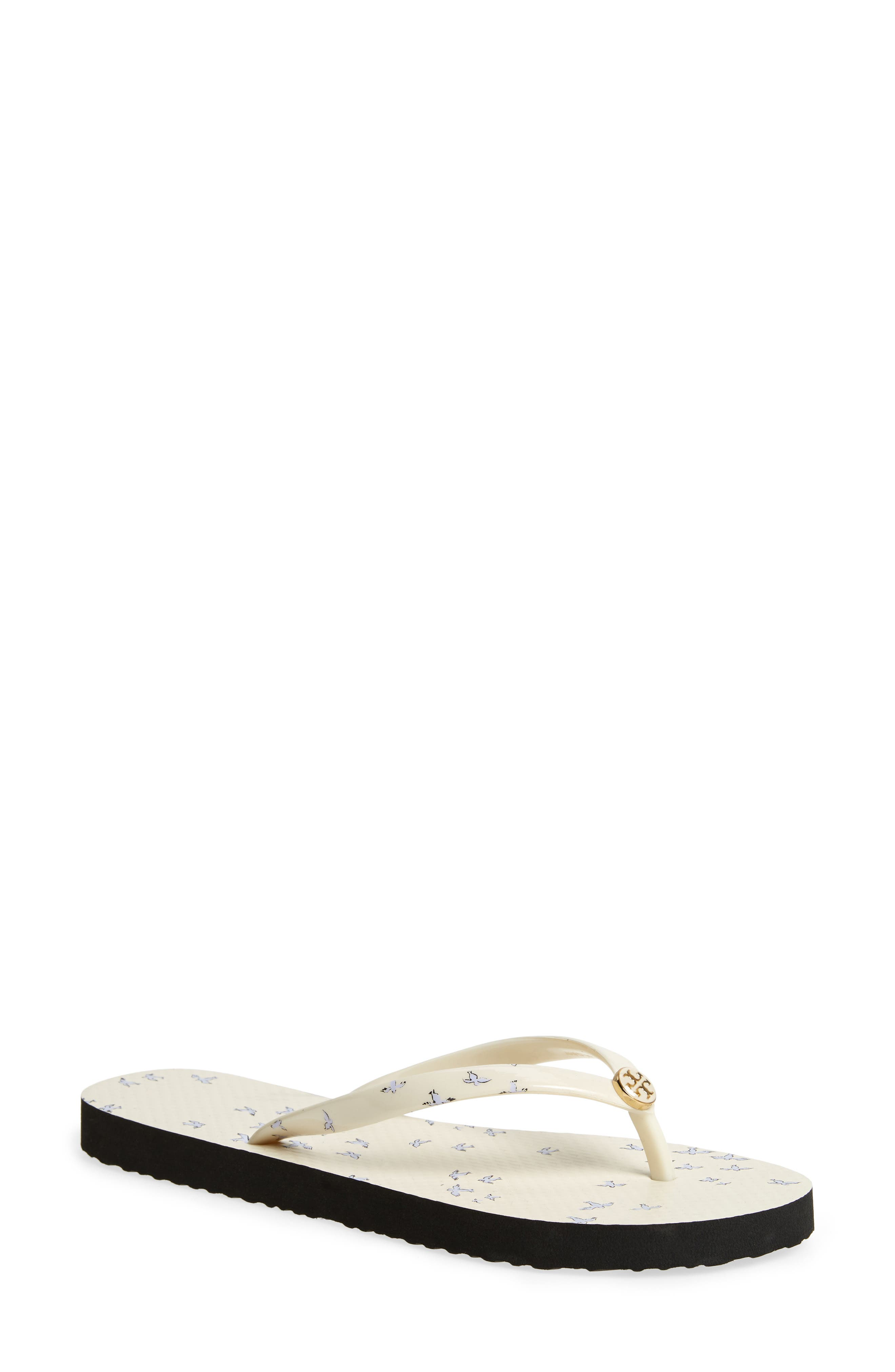 Thin Flip Flop,                             Main thumbnail 1, color,                             IVORY EARLY BIRD