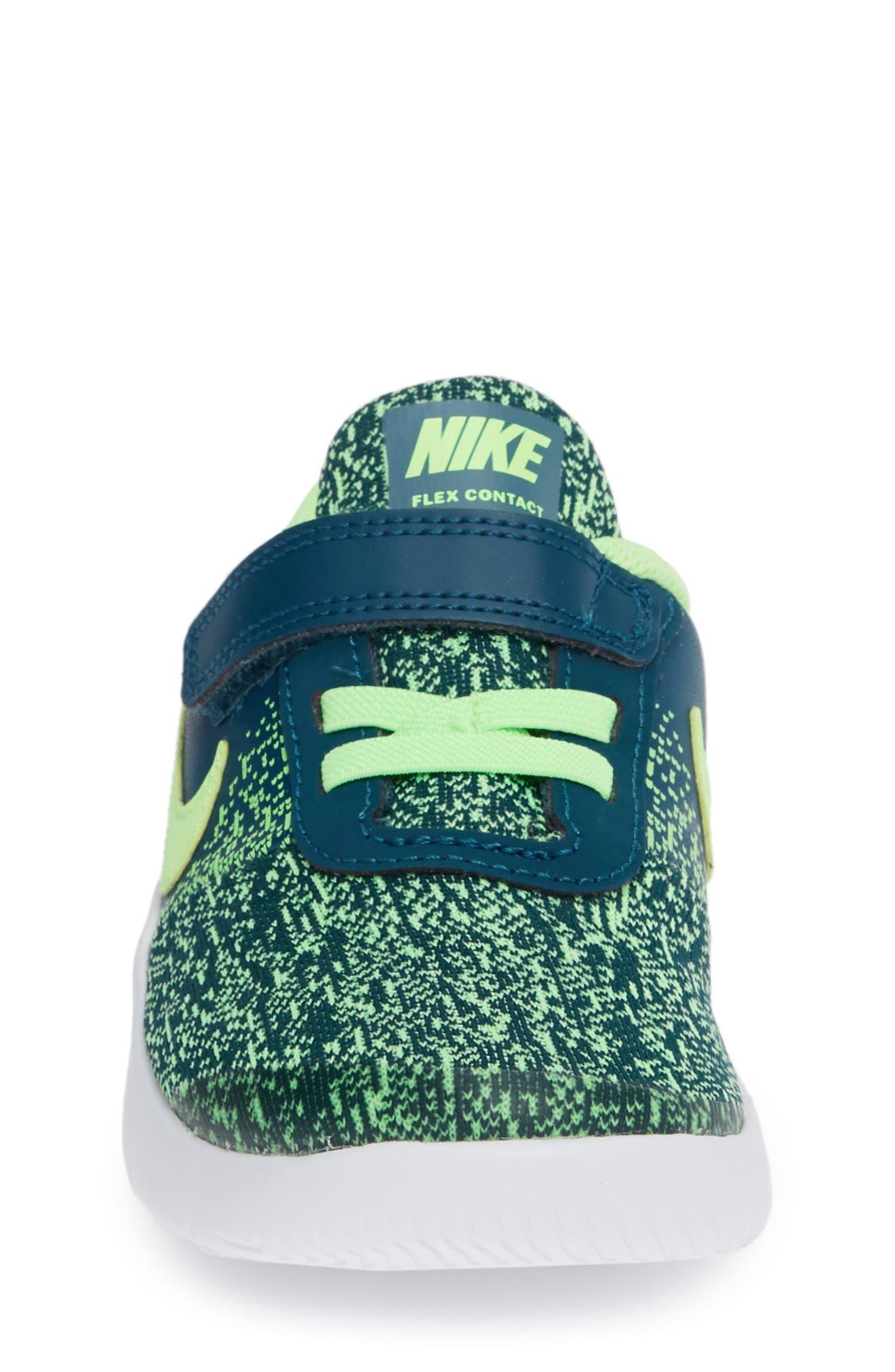 NIKE,                             Flex Contact Running Shoe,                             Alternate thumbnail 4, color,                             BLUE FORCE/ LIME BLAST
