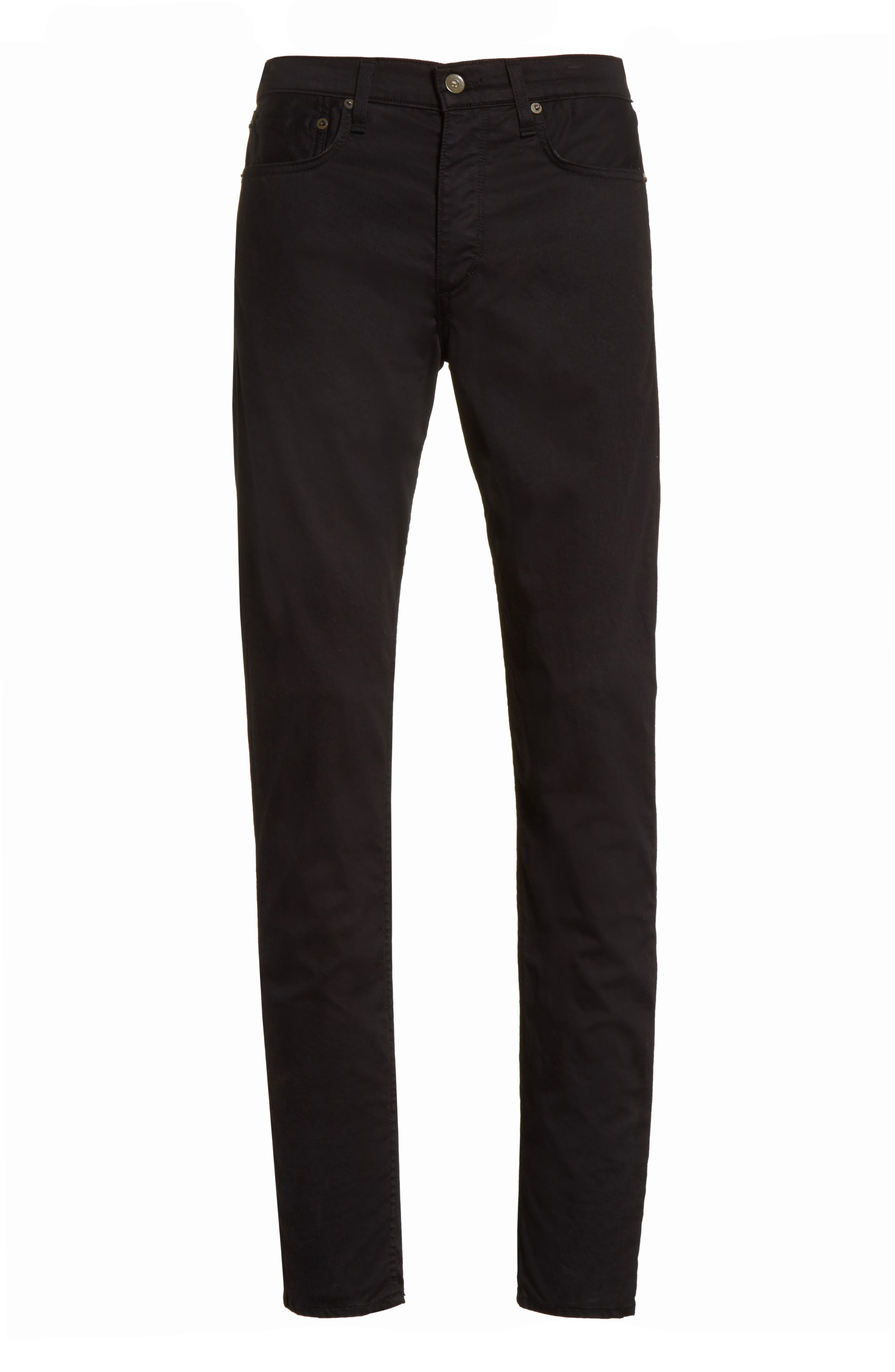 Fit 1 Twill Skinny Fit Pants,                             Alternate thumbnail 6, color,                             001