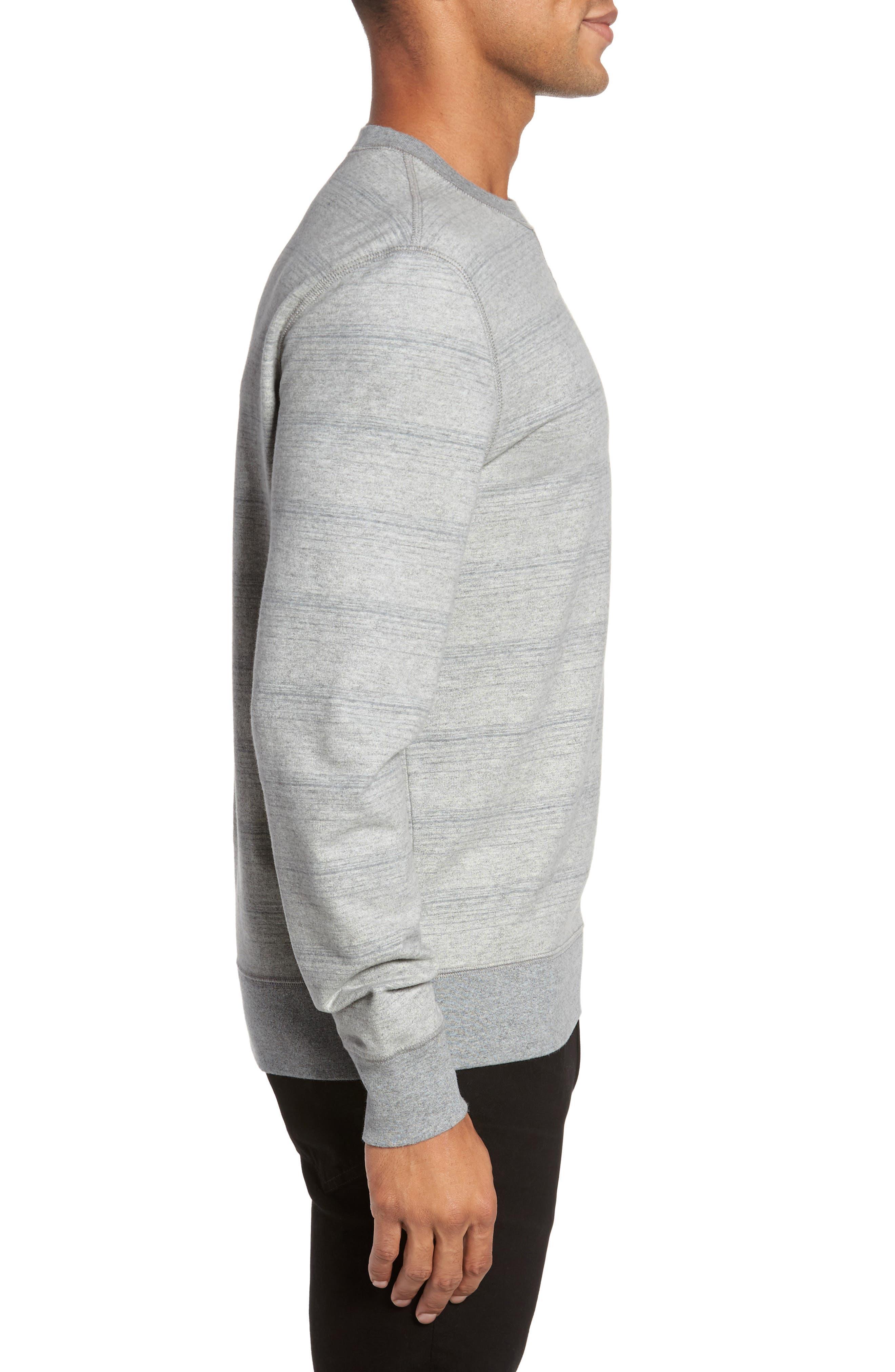 Striped Crewneck Sweater,                             Alternate thumbnail 3, color,                             035