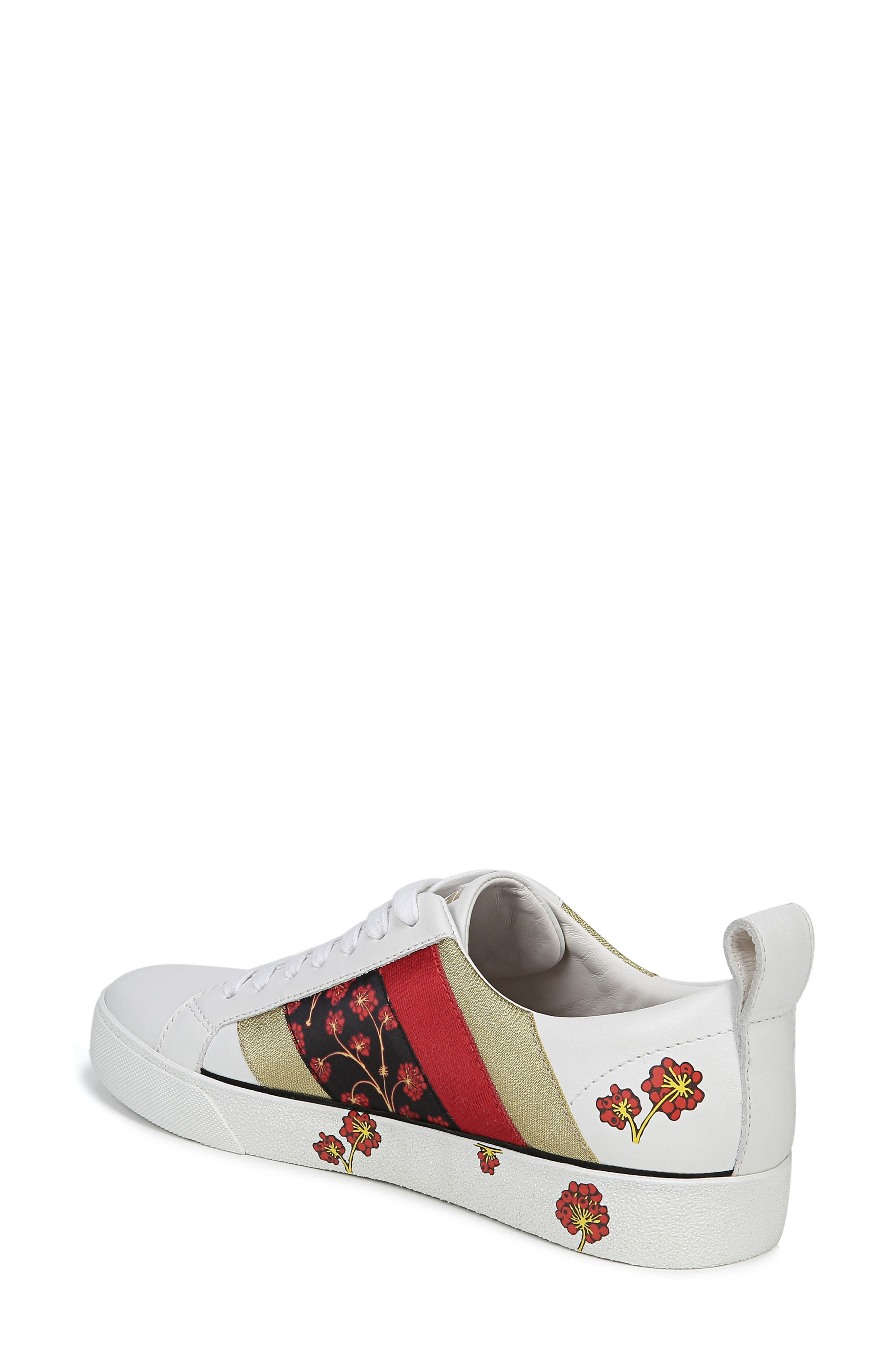 Tess Lace-Up Sneaker,                             Alternate thumbnail 2, color,                             WHITE/ RED