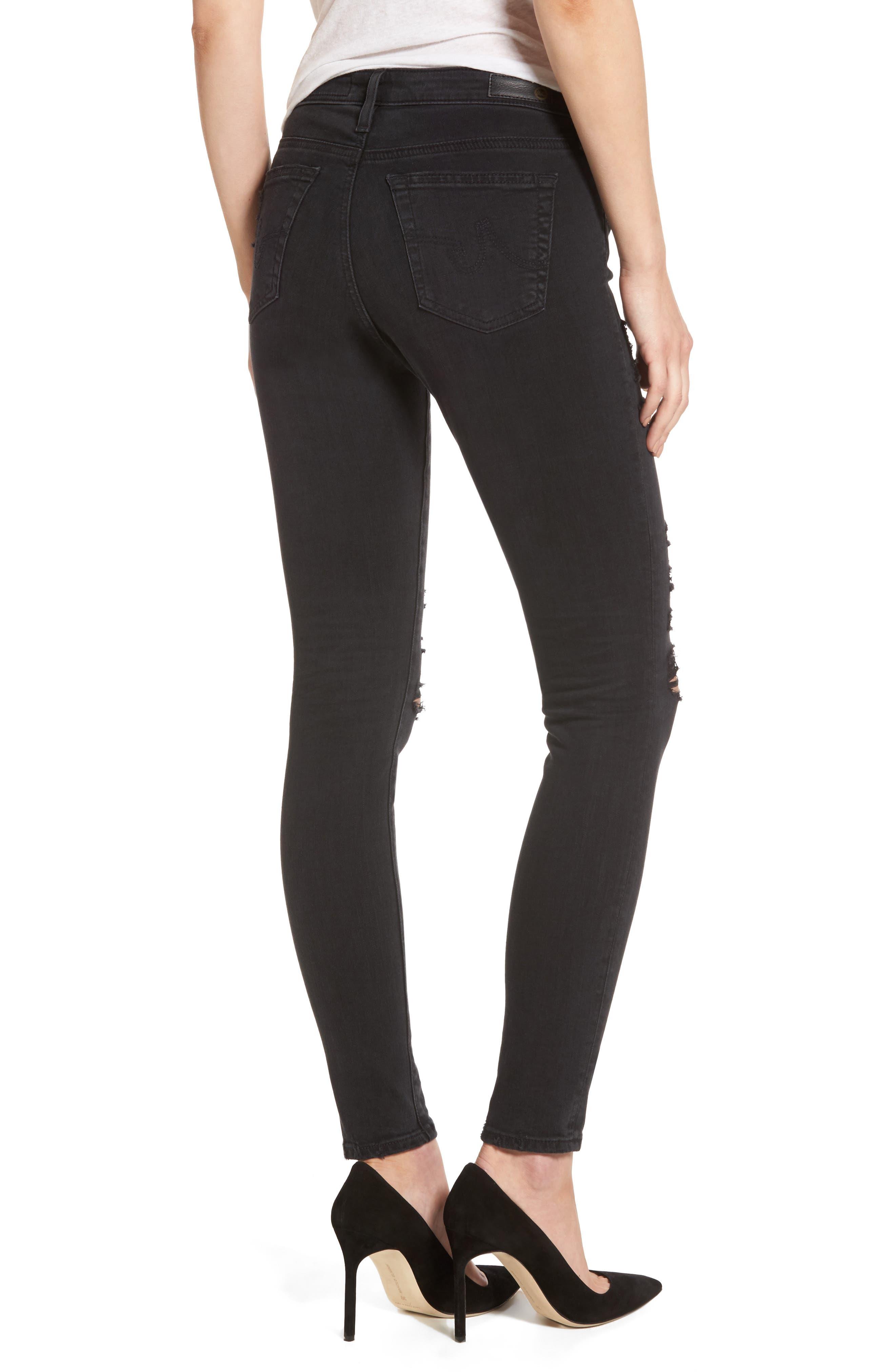 'The Legging' Ankle Super Skinny Jeans,                             Alternate thumbnail 8, color,