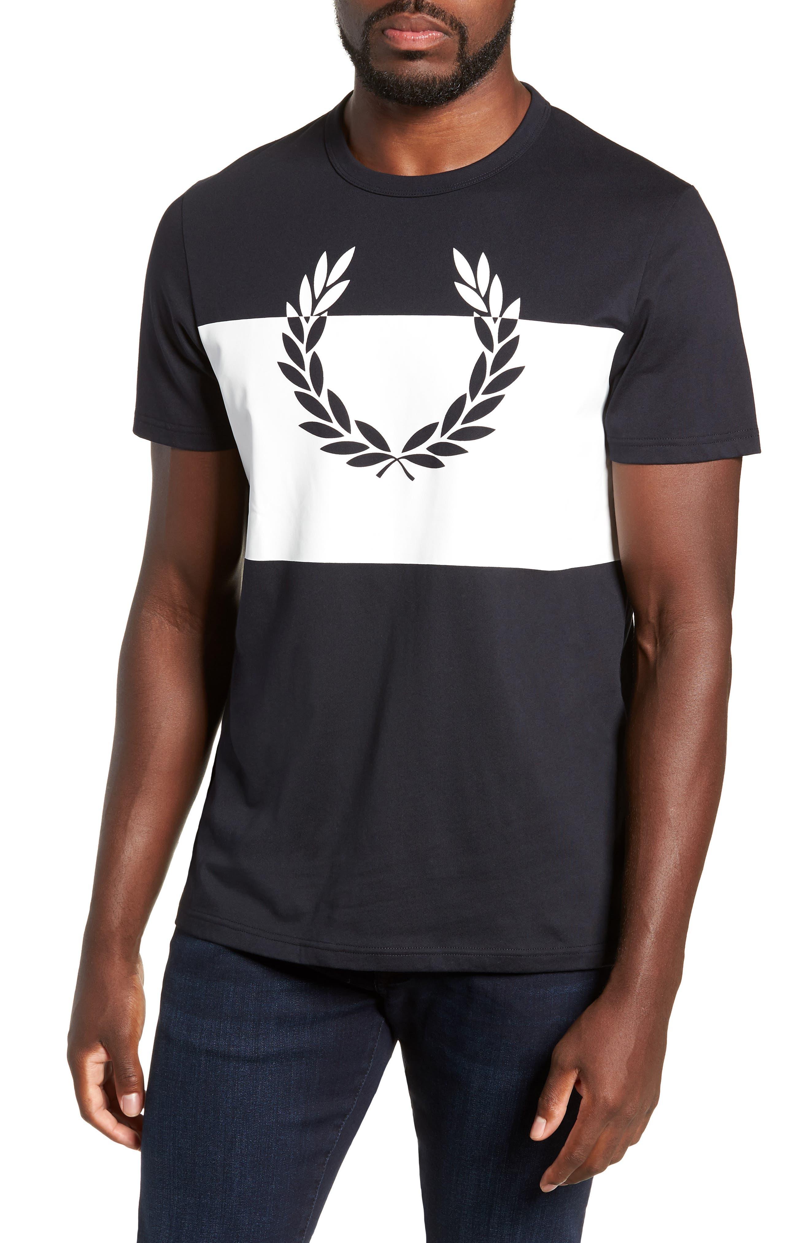 Laurel Wreath Graphic T-Shirt,                             Main thumbnail 1, color,                             NAVY