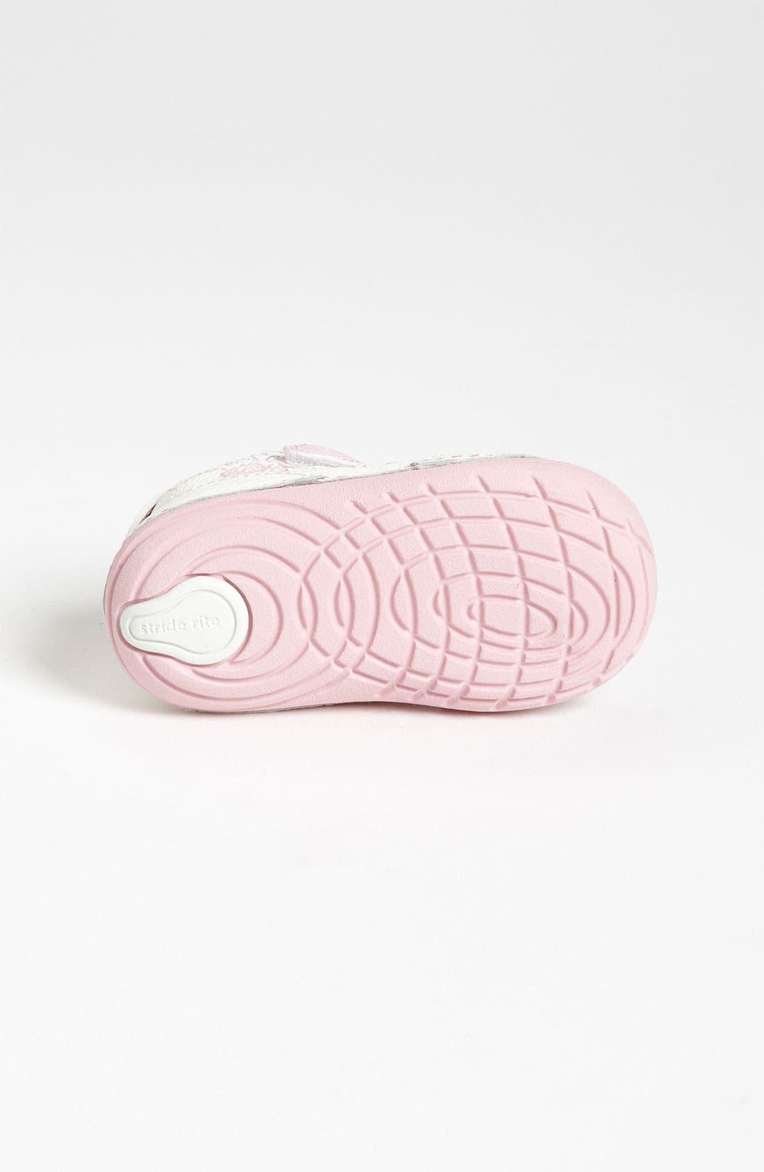 Sneaker,                             Alternate thumbnail 4, color,                             WHITE/ PINK