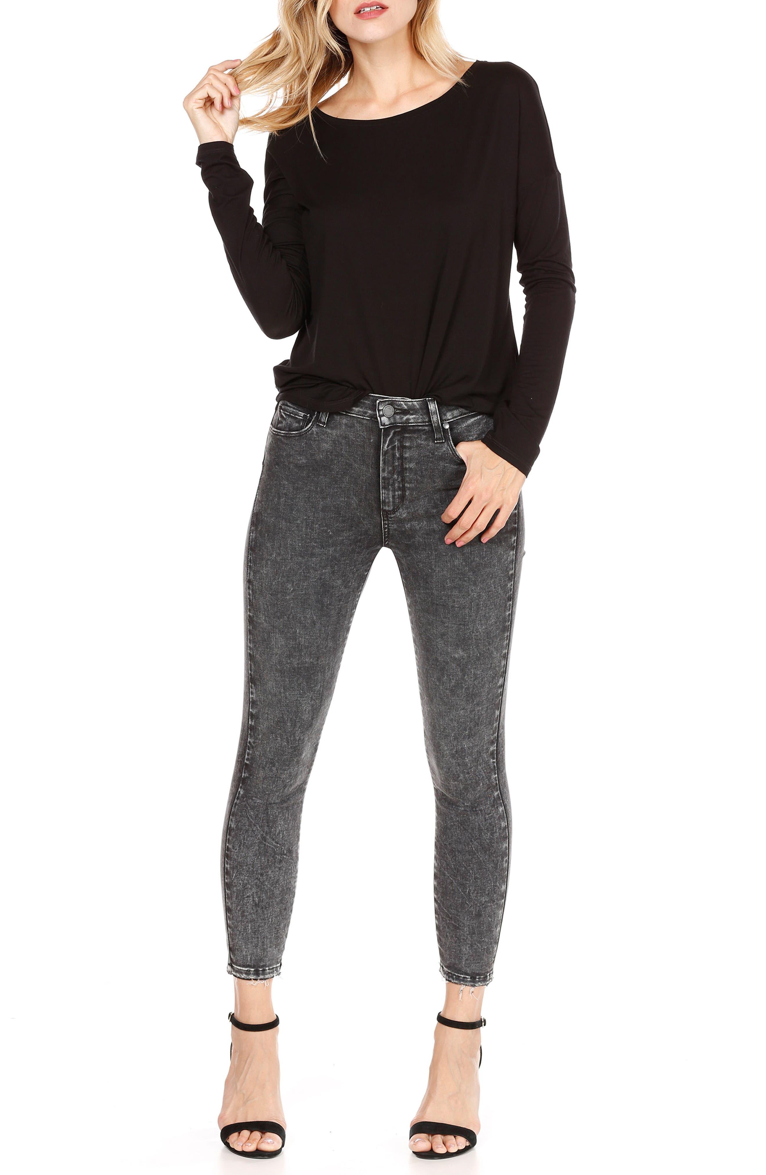 Hoxton High Waist Crop Skinny Jeans,                             Alternate thumbnail 3, color,                             021
