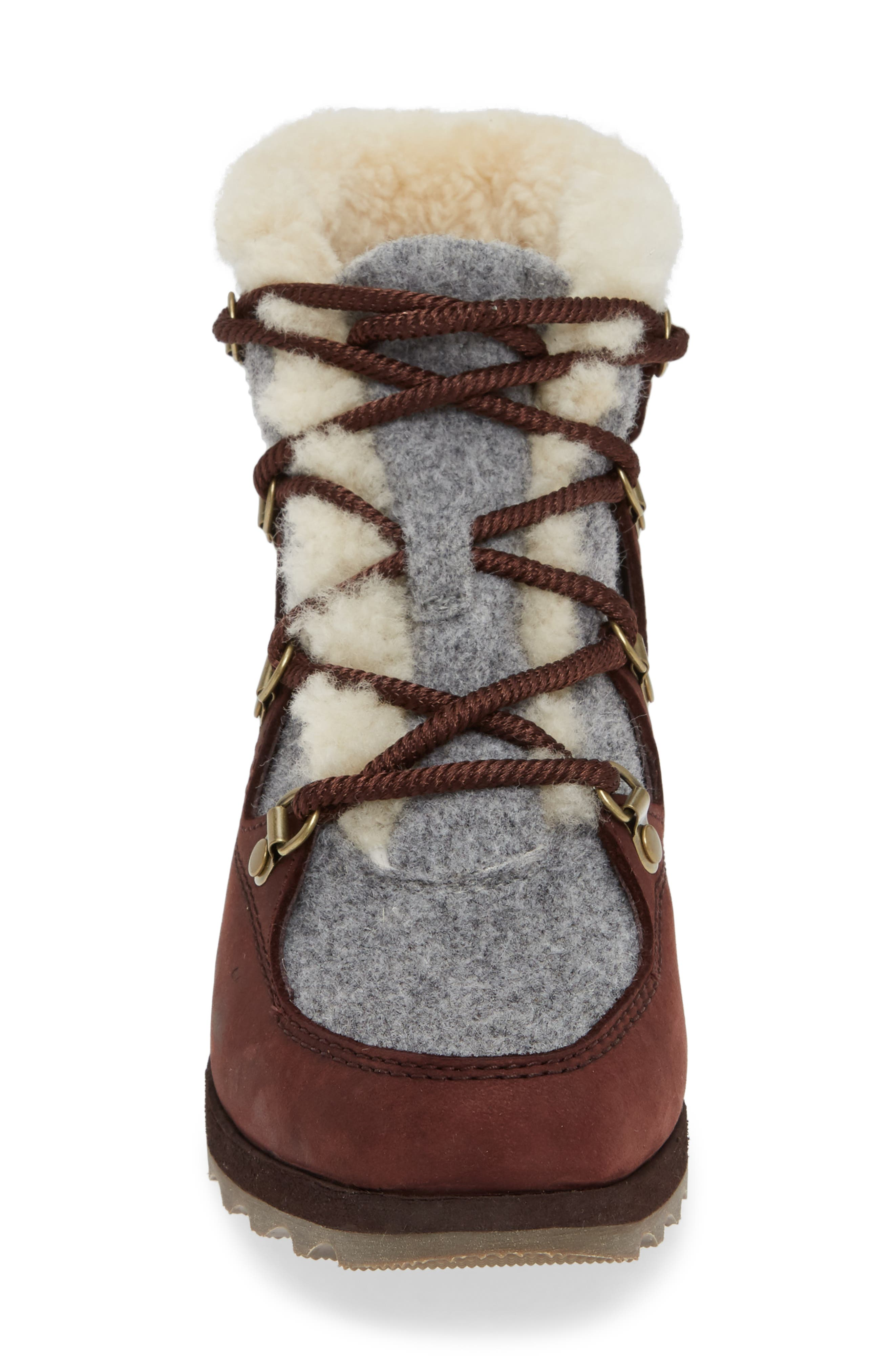 Sneakchic Alpine Holiday Waterproof Bootie,                             Alternate thumbnail 4, color,                             CATTAIL/ GUM