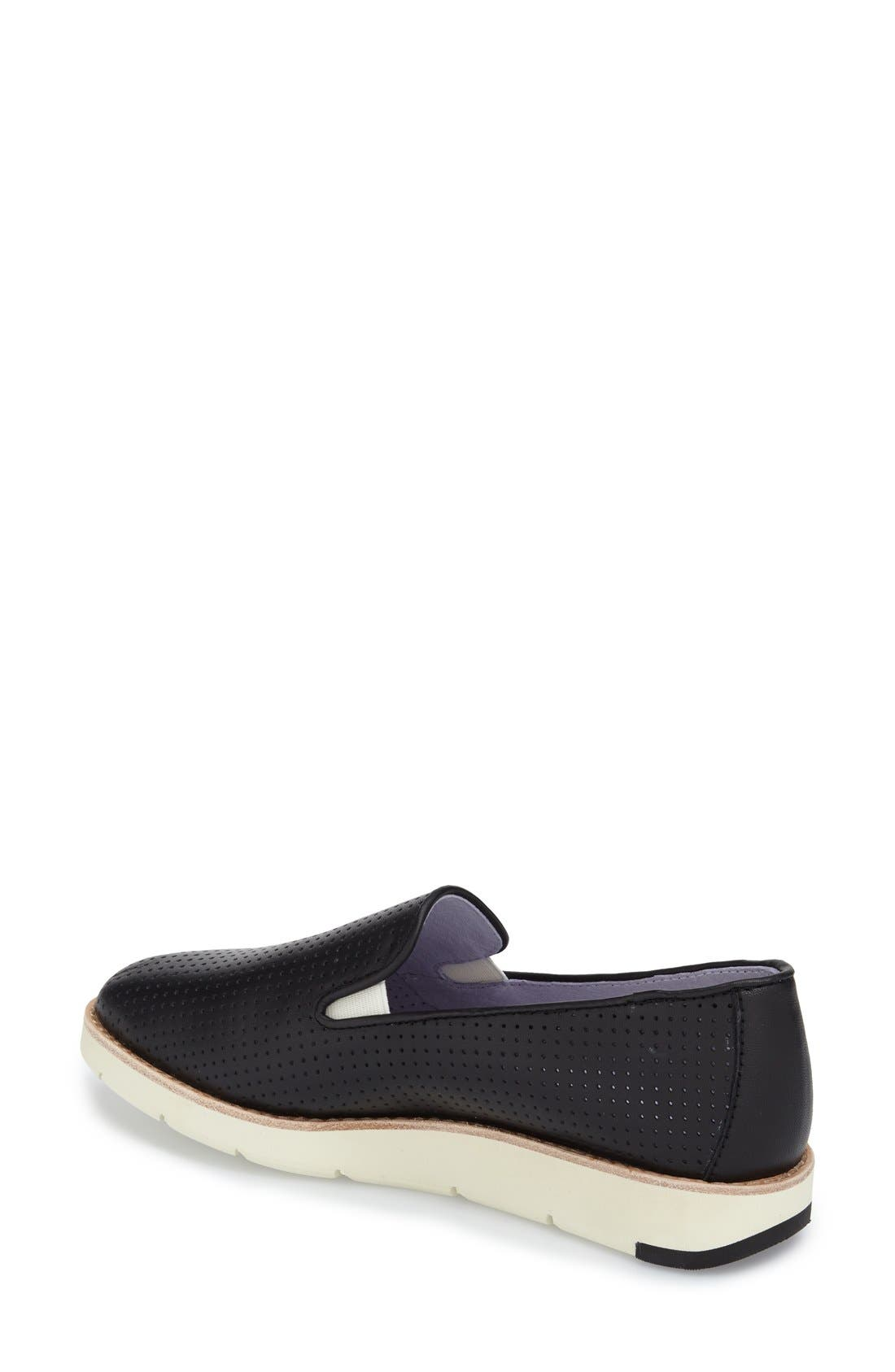 'Paulette' Slip-On Sneaker,                             Alternate thumbnail 2, color,                             BLACK