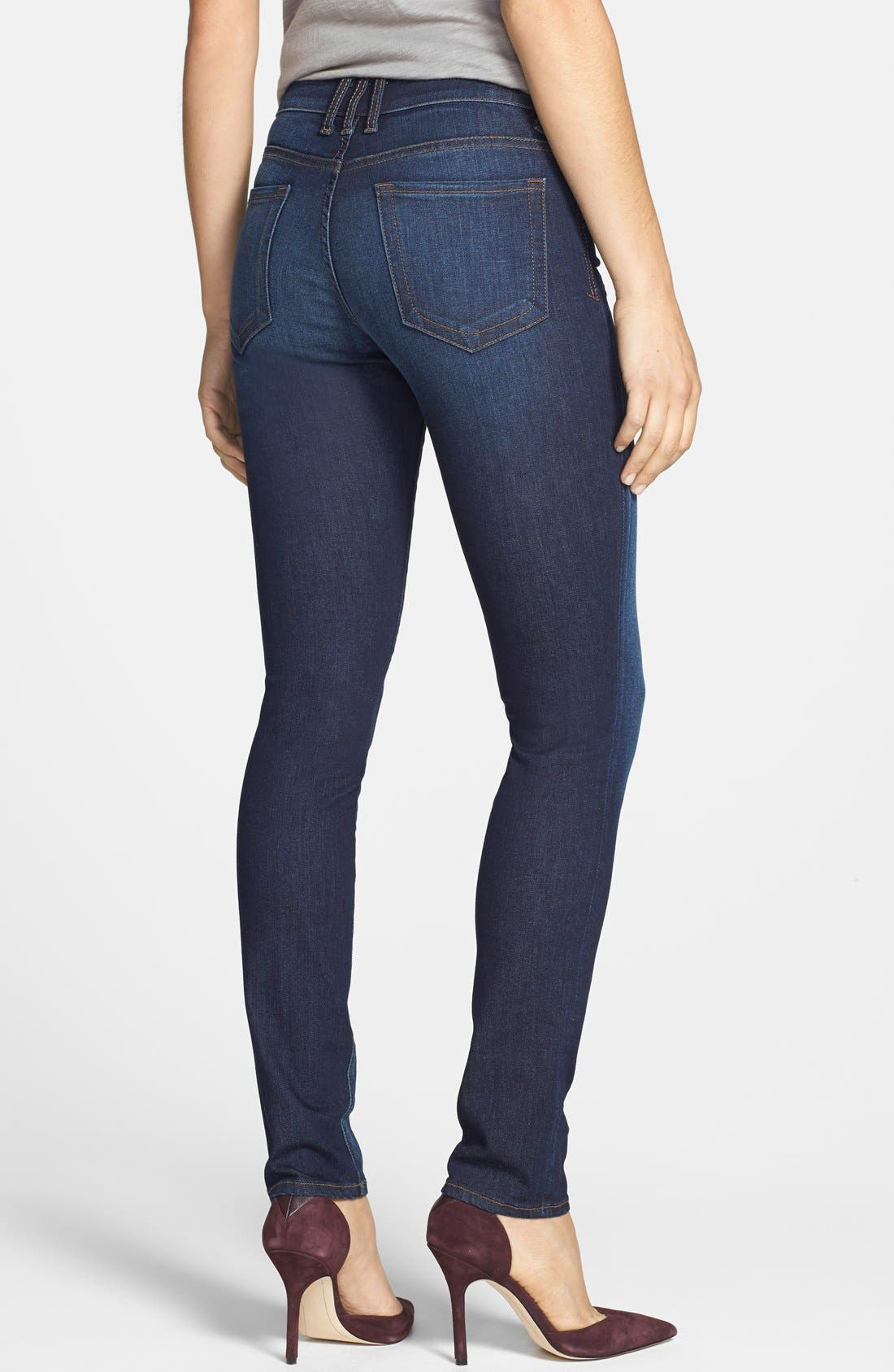 'Diana' Stretch Skinny Jeans,                             Alternate thumbnail 2, color,                             402